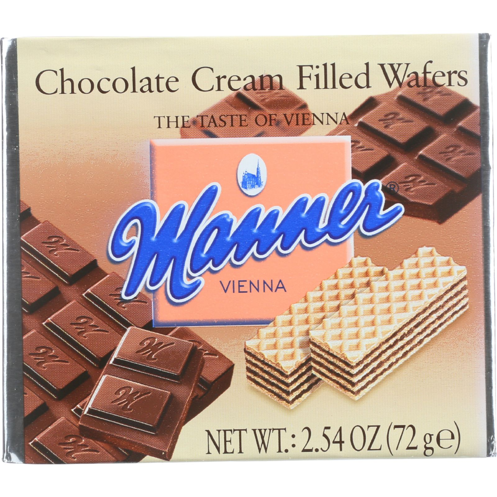 Manner Wafers - Chocolate Cream Filled - 2.54 oz - case of 12