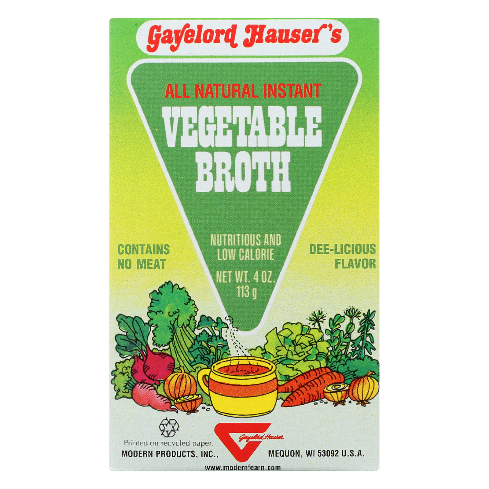 Modern Products Hauser Vegetable Broth - 4 oz