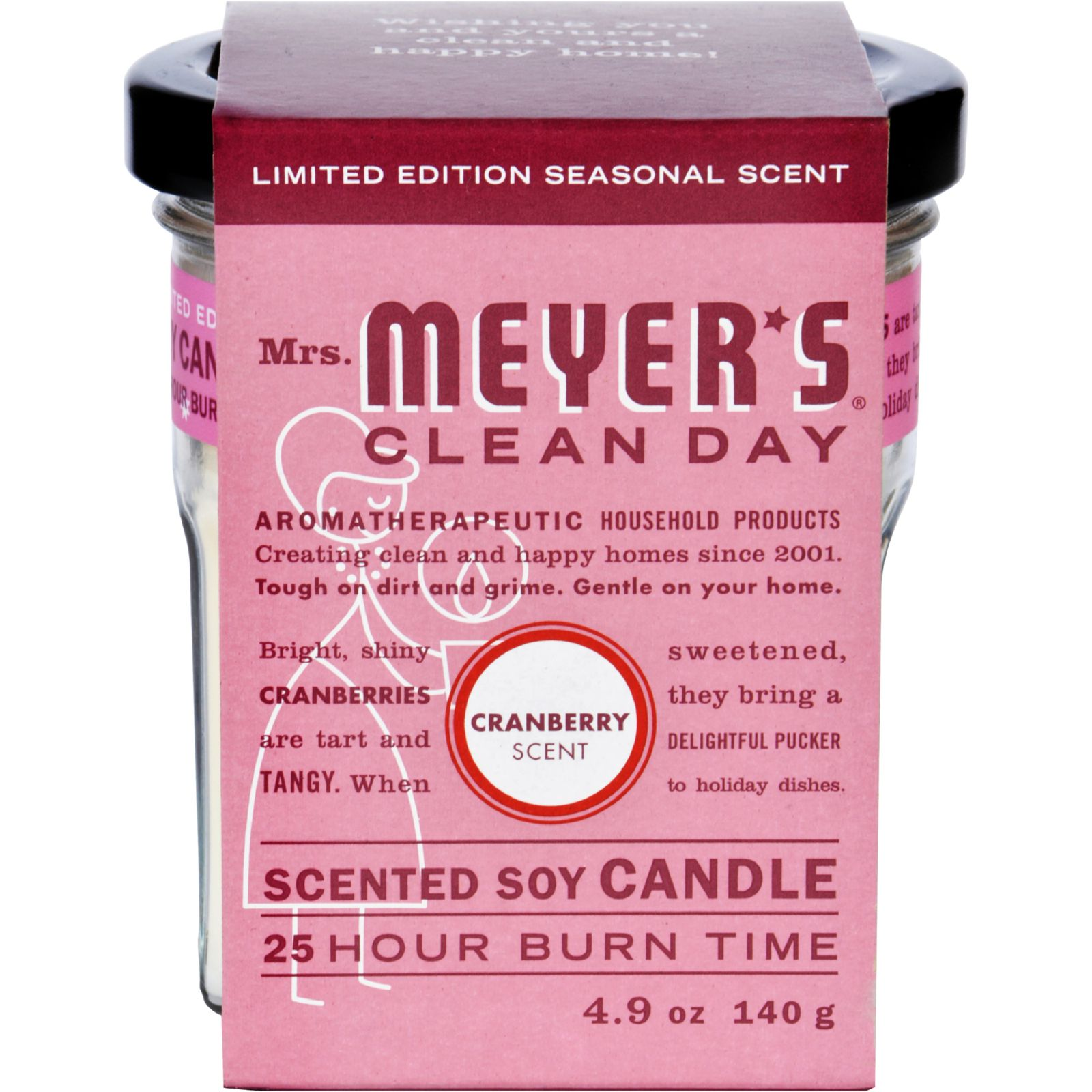 Mrs. Meyer's Soy Candle - Cranberry - 4.9 oz