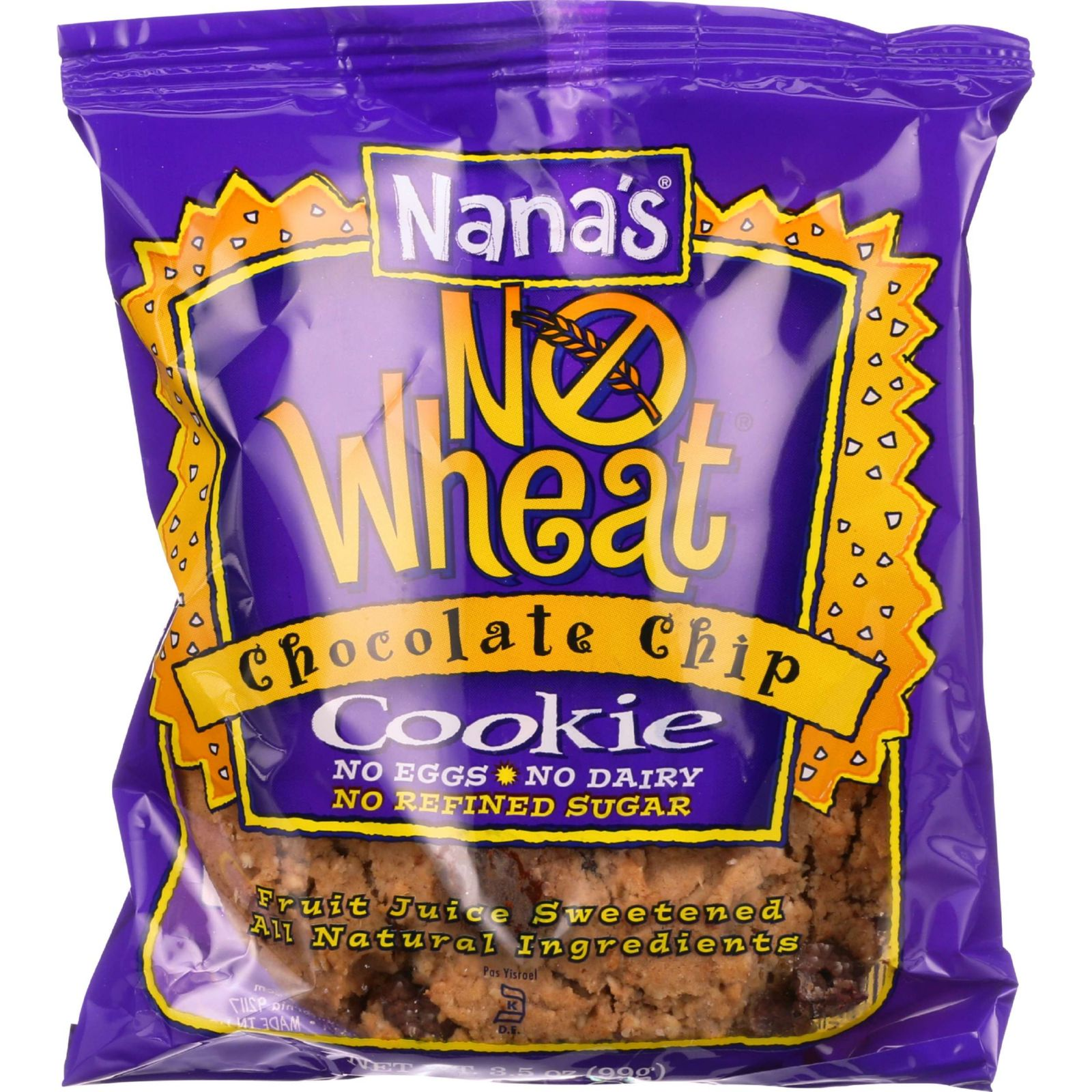 Nanas Cookie Cookie - Chocolate Chip - No Wheat - 3.5 Oz - Case Of 12