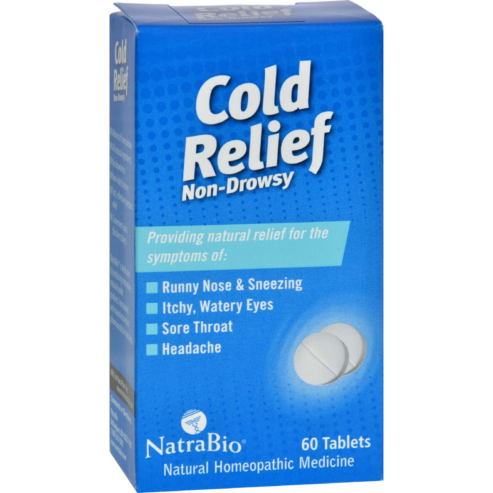 Natrabio Cold Relief Non-drowsy - 60 Tablets