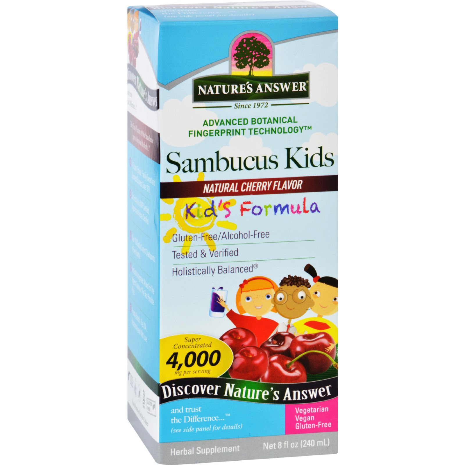 Natures Answer Sambucus - Kids Formula - Natural Cherry Flavor - 8 Oz