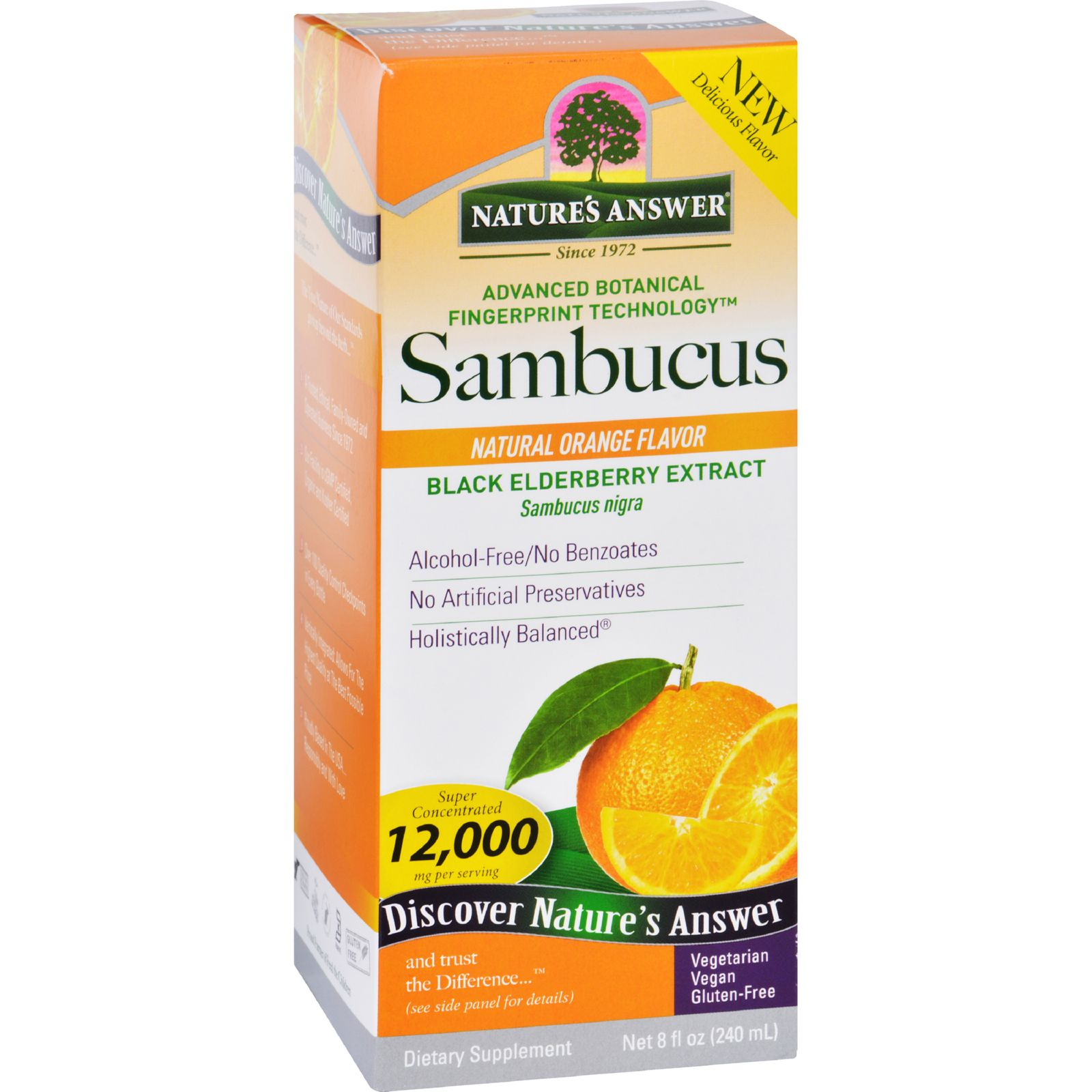 Natures Answer Sambucus - Original - Natural Orange Flavor - 8 Oz