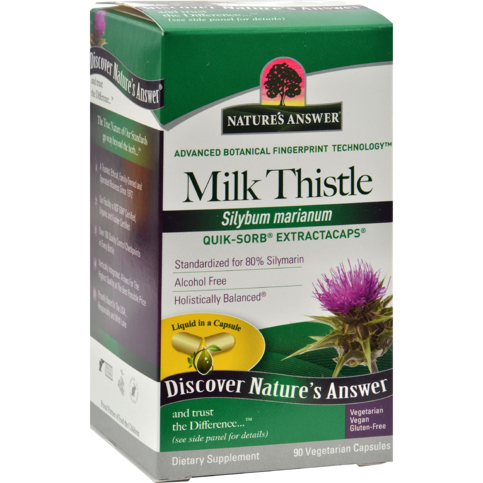 Nature's Answer Extractacaps Milk Thistle - 90 Veggie Caps