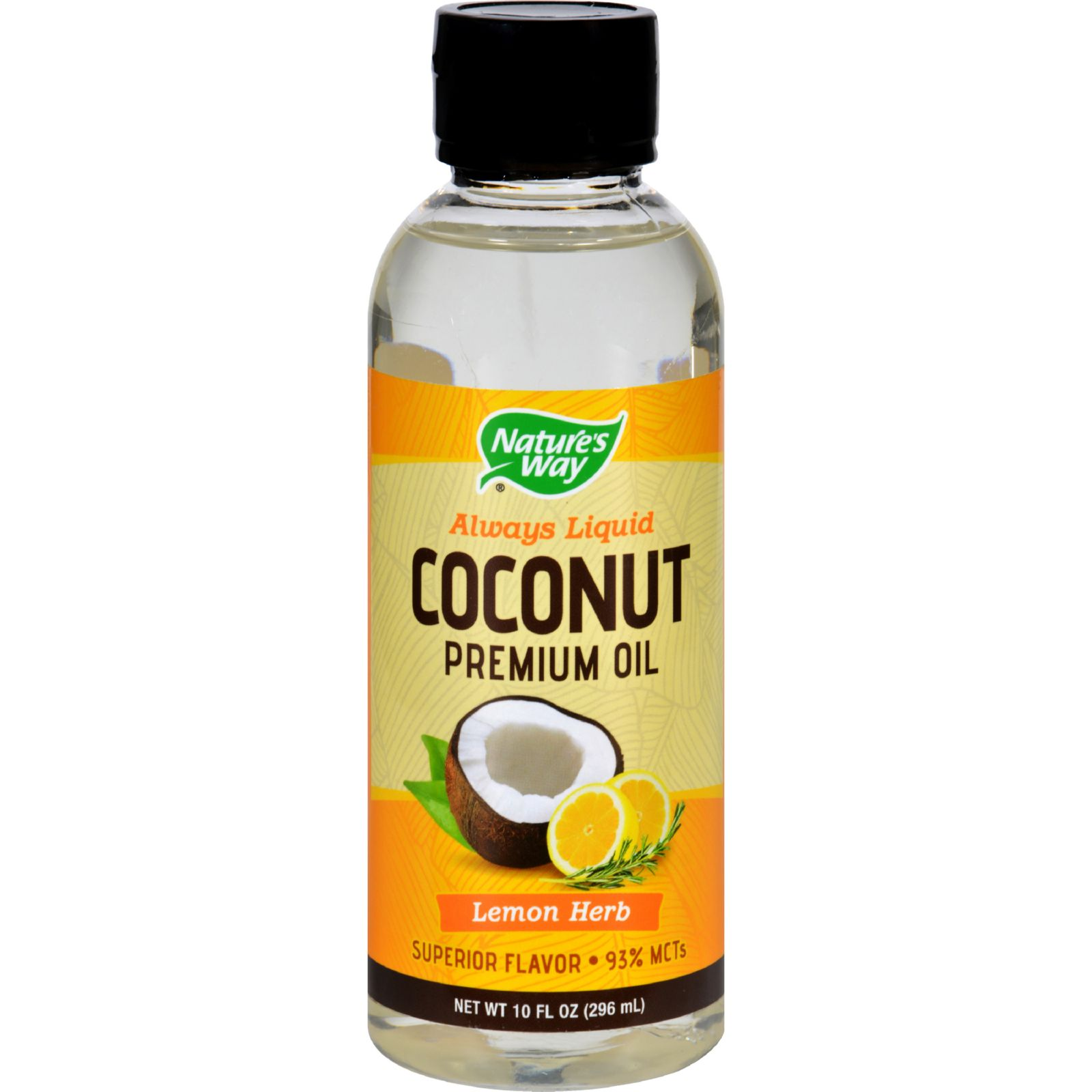 Natures Way Coconut Oil - Premium - Lemon Herb - 10 oz