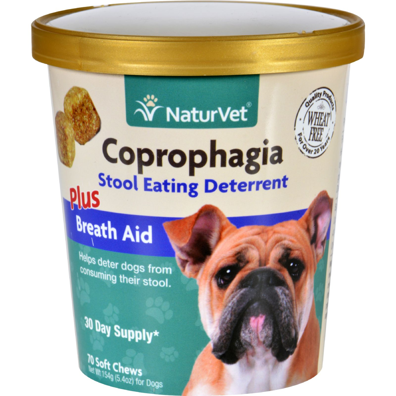 NaturVet Coprohpagia - Plus Breath Aid - Dogs - Cup - 70 Soft Chews