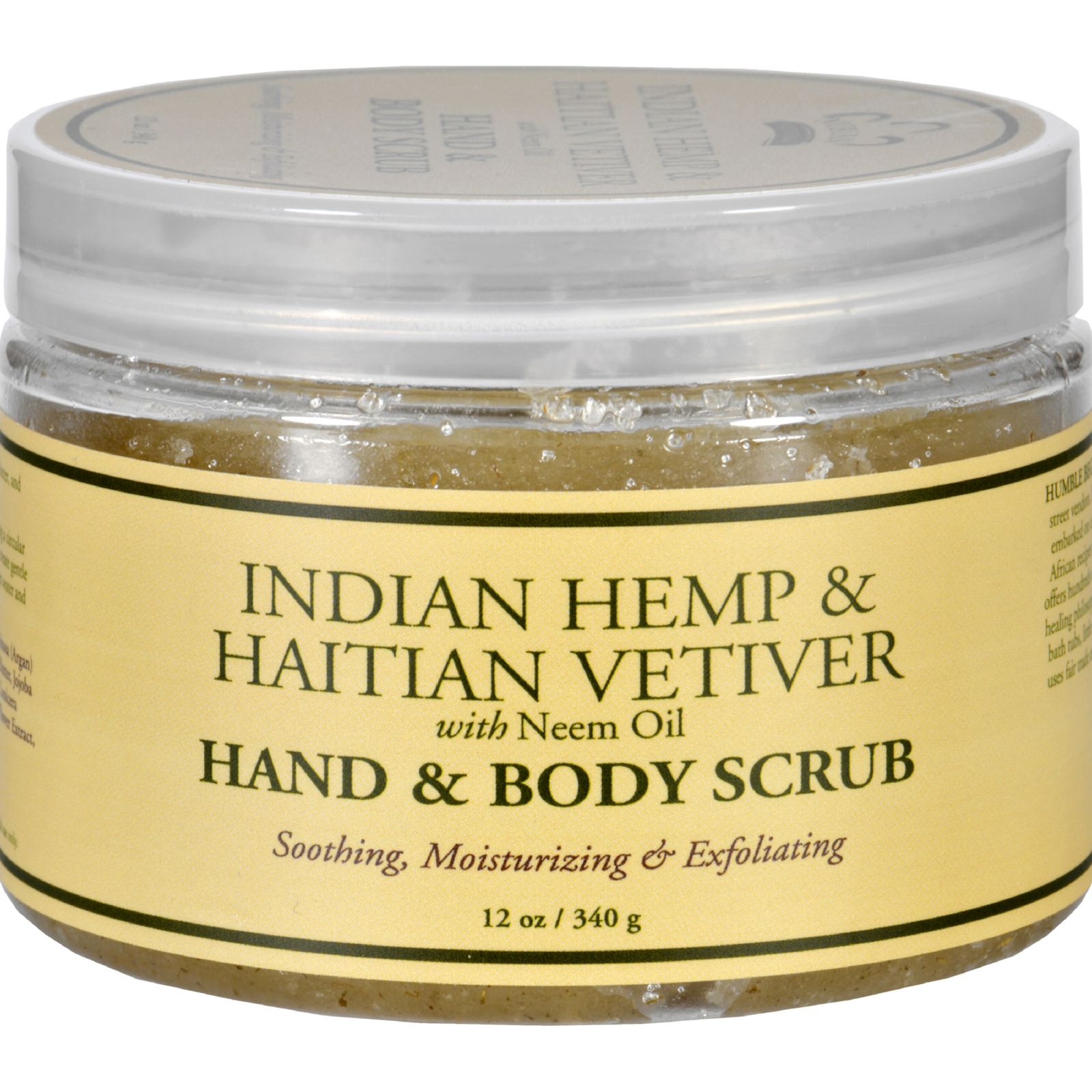 Nubian Heritage Hand And Body Scrub - Indian Hemp And Haitian Vetiver - 12 Oz