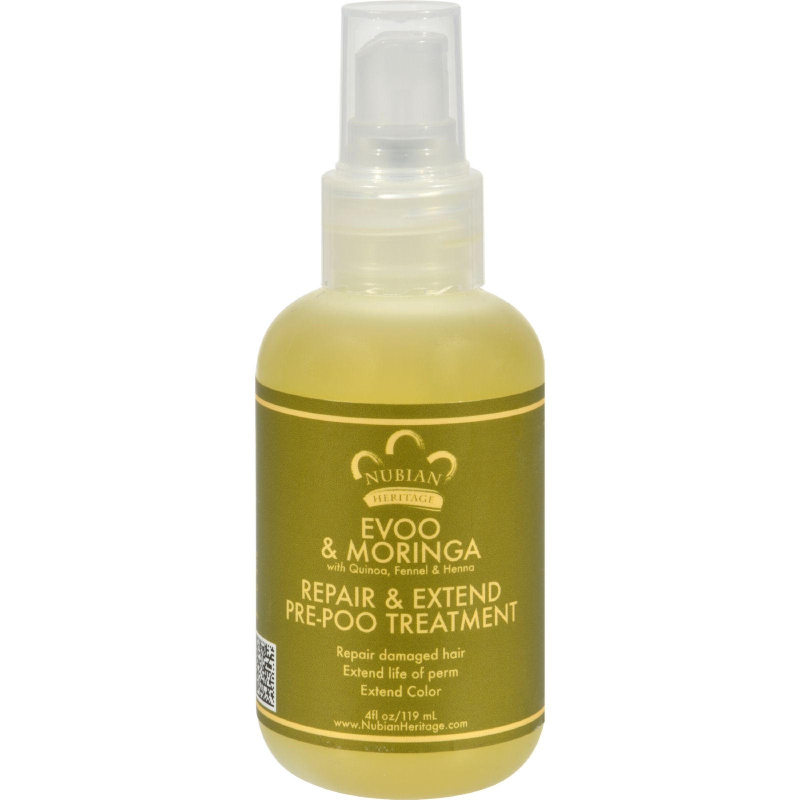 Nubian Heritage Prepoo Serum - Repair and Extend Extra Virgin Olive Oil and Moringa - 4 oz