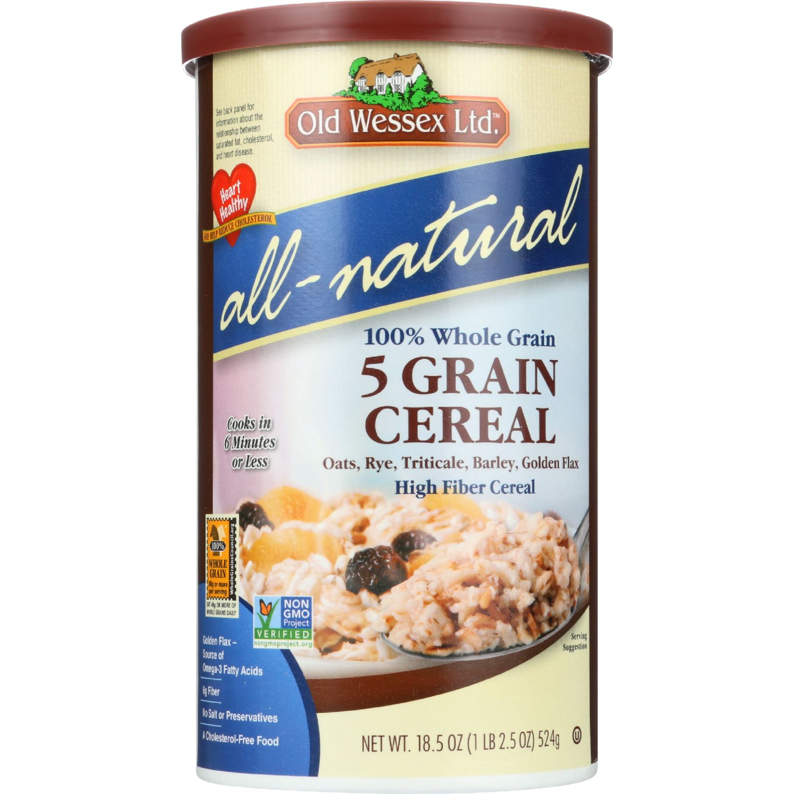 Old Wessex Cereal - 5 Grain - 18.5 Oz - Case Of 12