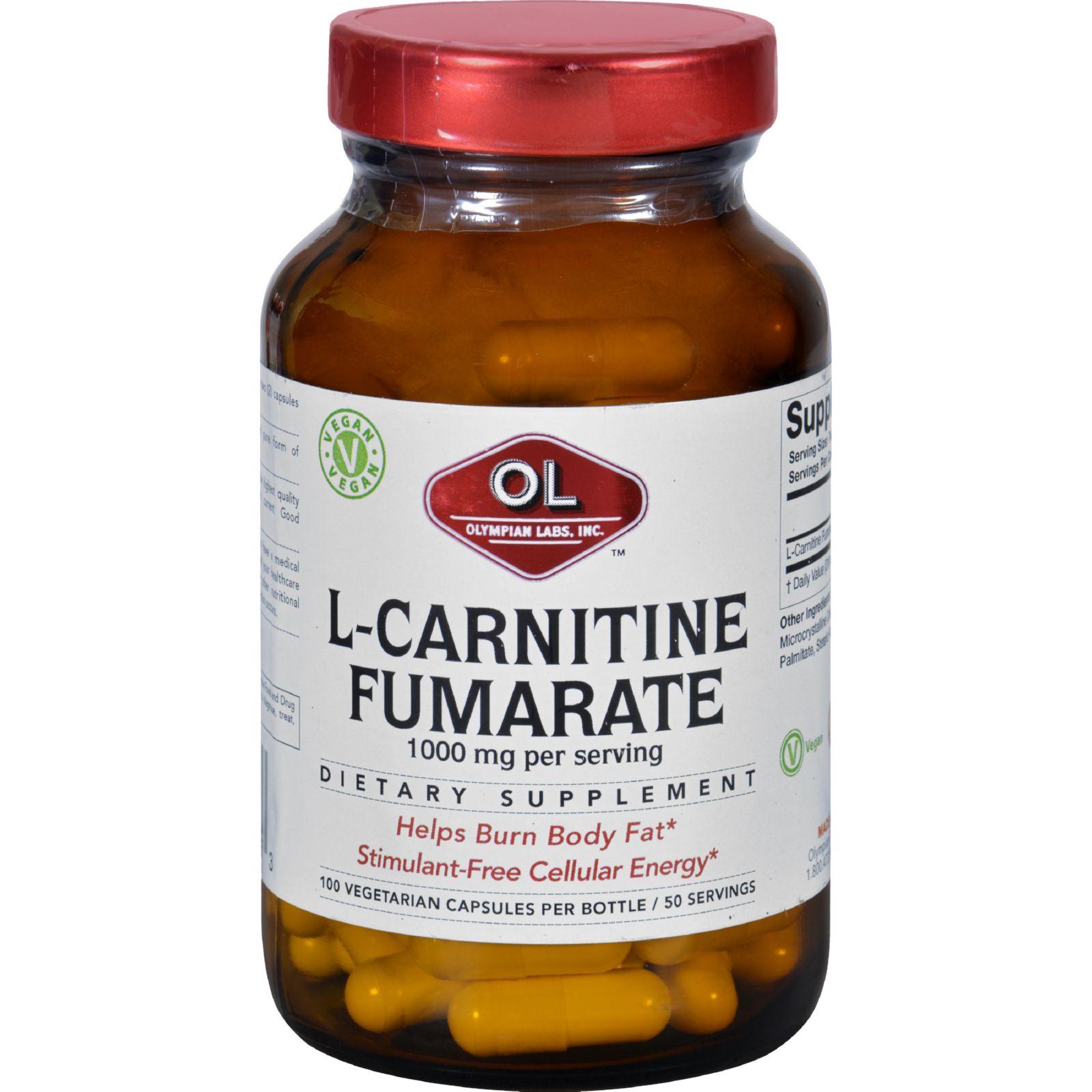 Olympian Labs L-Carnitine - 1000 mg - 100 Vegetarian Capsules