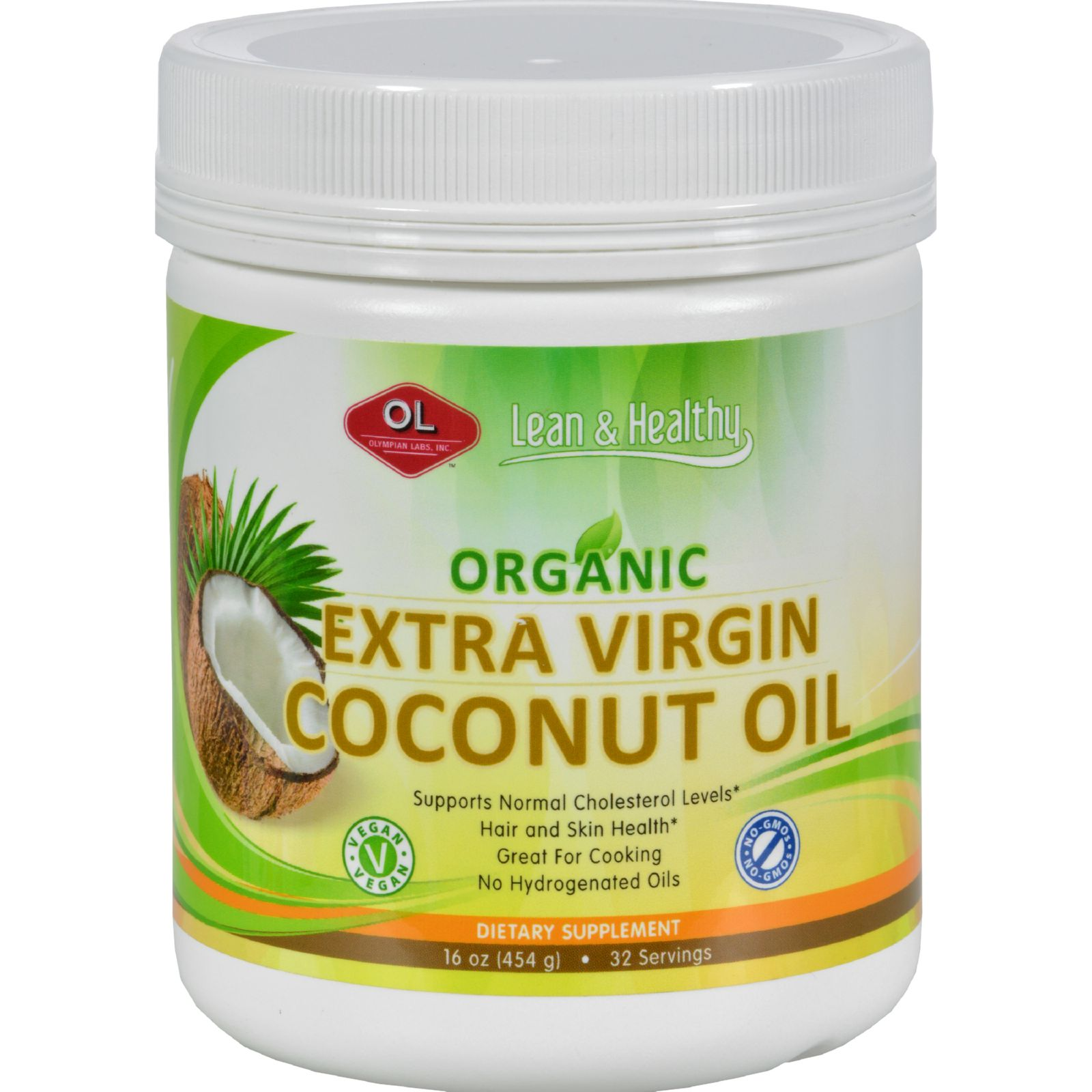 Olympian Labs Coconut Oil - Virgin - Refined - 10 Oz