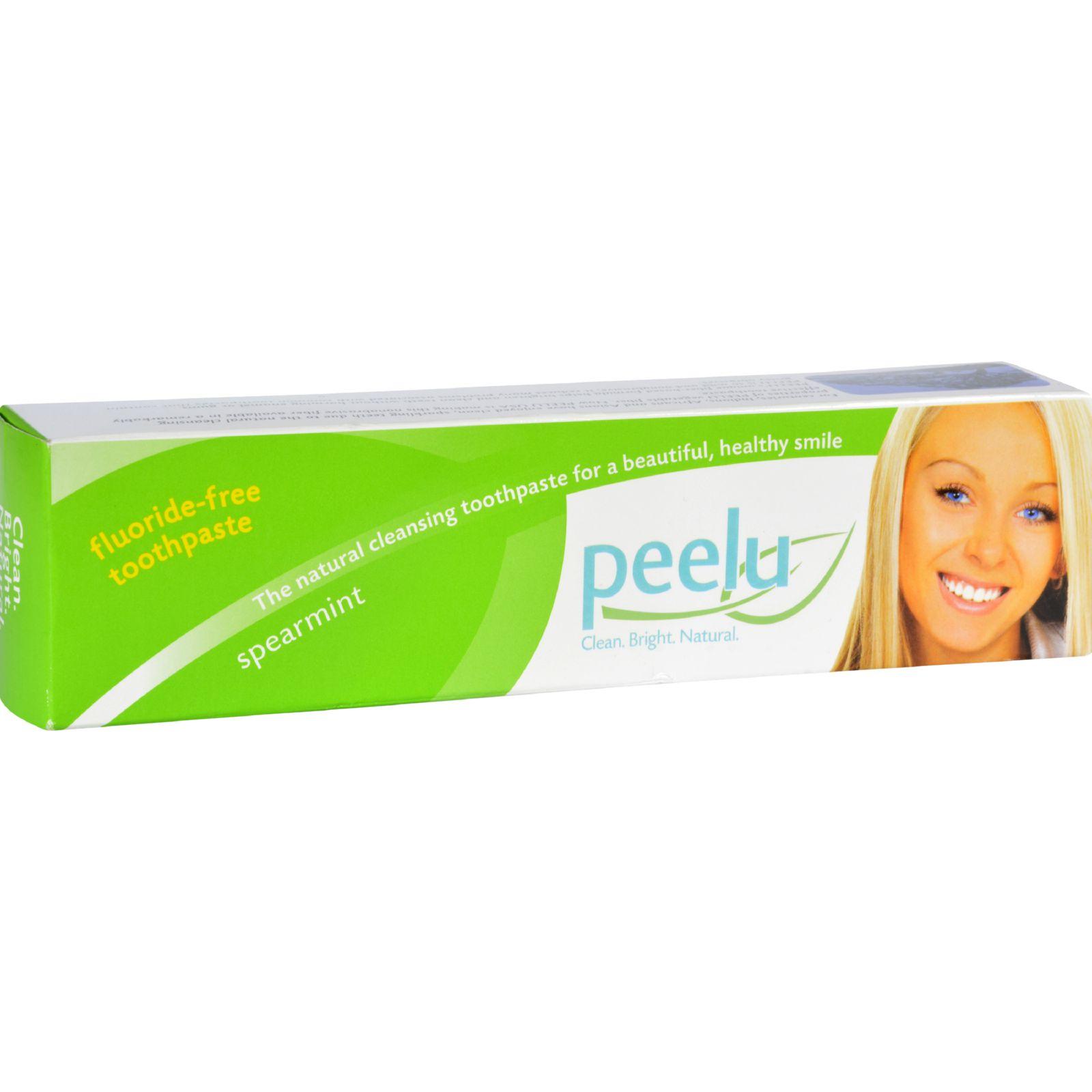 Peelu Toothpaste - Fluoride Free - Spearmint - 7 oz
