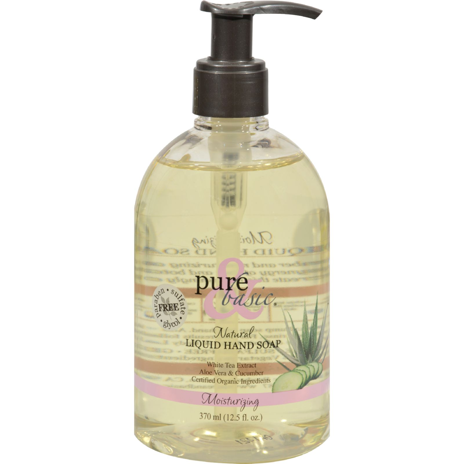 Pure And Basic Moisturizing Green Tea Naturals Liquid Hand Soap - 12.5 Fl Oz