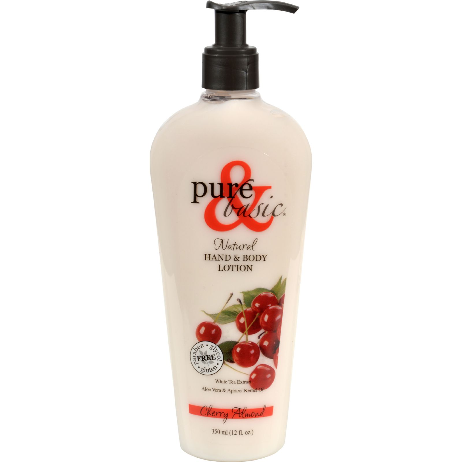 Pure and Basic Natural Bath And Body Lotion Cherry Almond - 12 fl oz