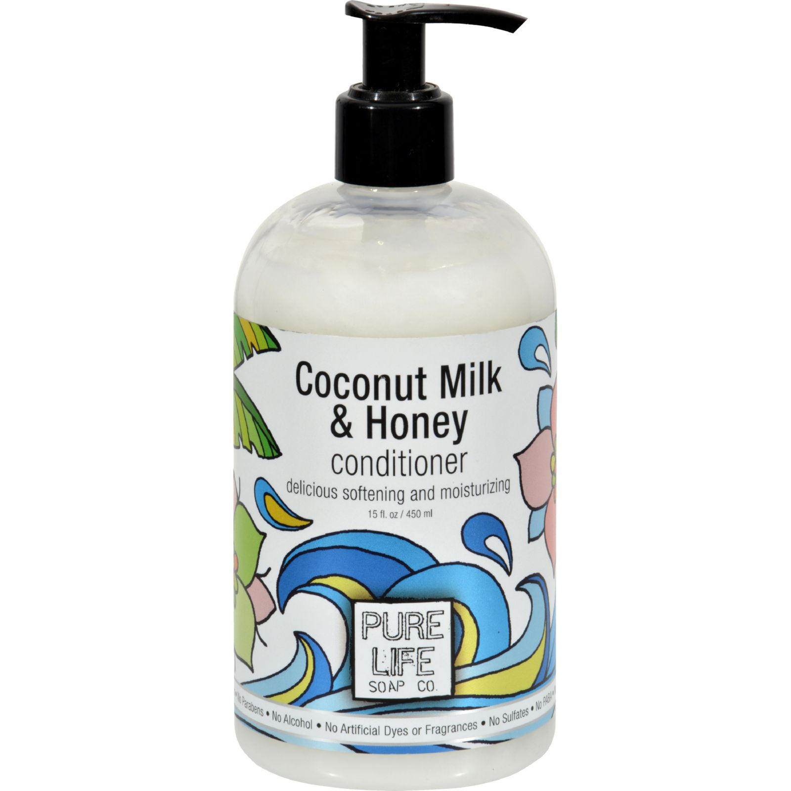 Pure Life Soap Conditioner - Coconut Milk And Honey - 15 Fl Oz