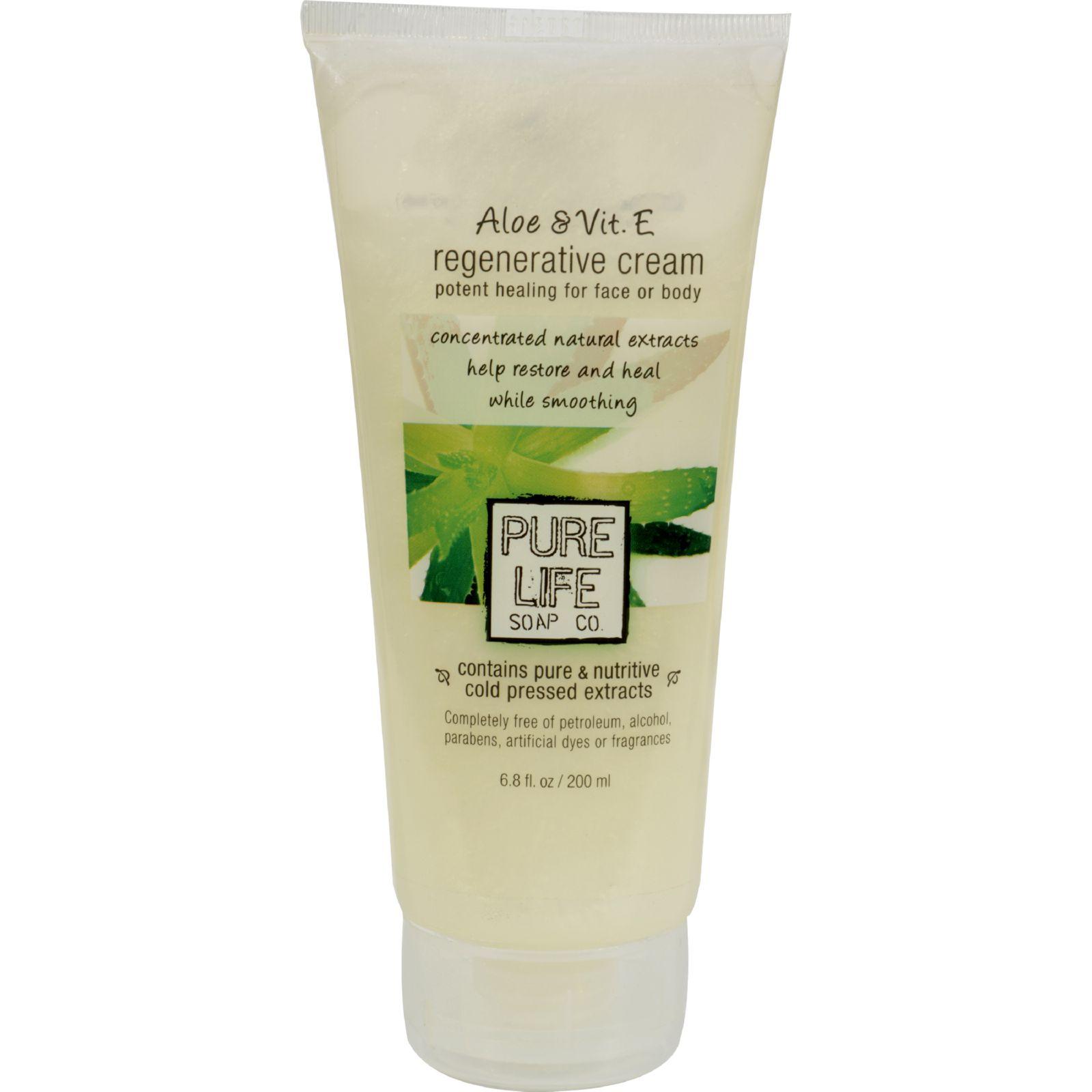 Pure Life Aloe And Vitamin E Regenerative Cream - 6.8 Fl Oz