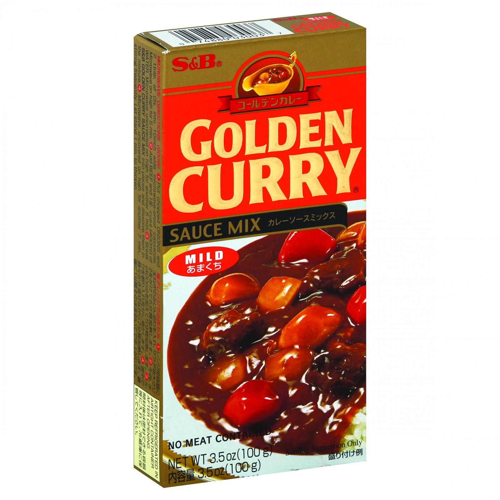 Sandb Sauce Mix - Golden Curry - Mild - 3.5 Oz - Case Of 12