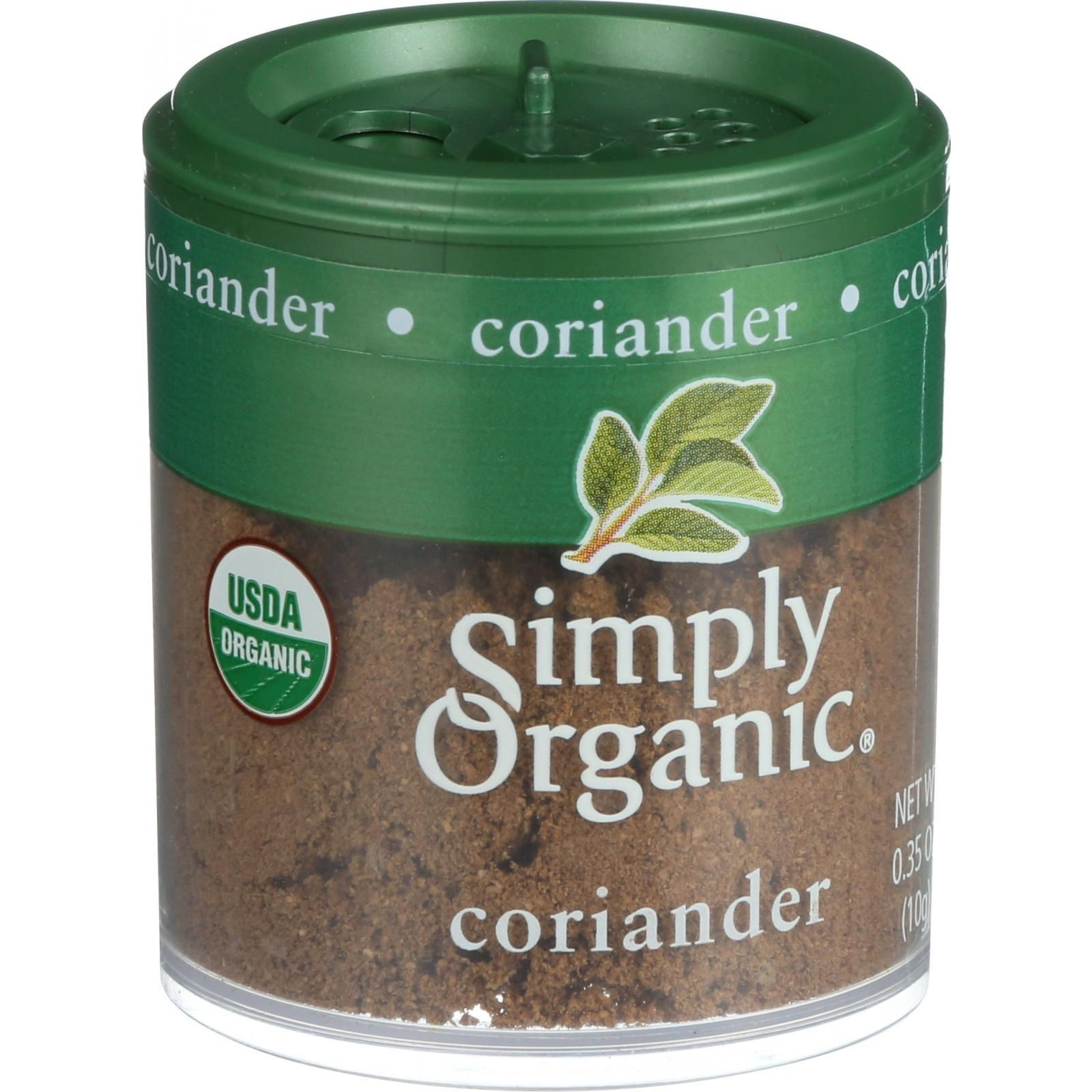 Simply Organic Coriander Seed - Organic - Ground - .35 Oz - Case Of 6