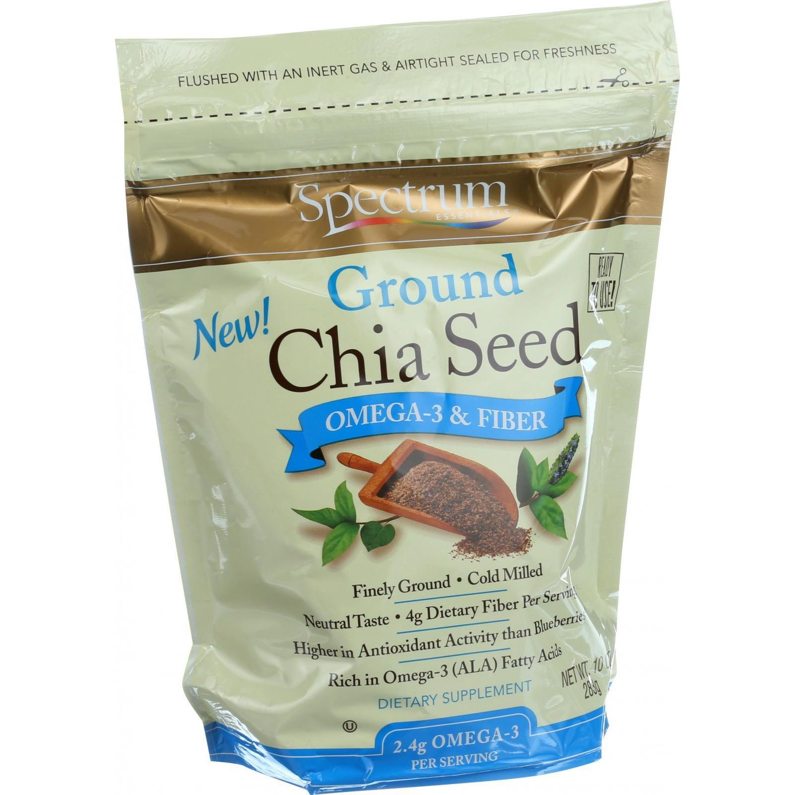 Spectrum Essentials Chia Seed - Ground - 10 Oz