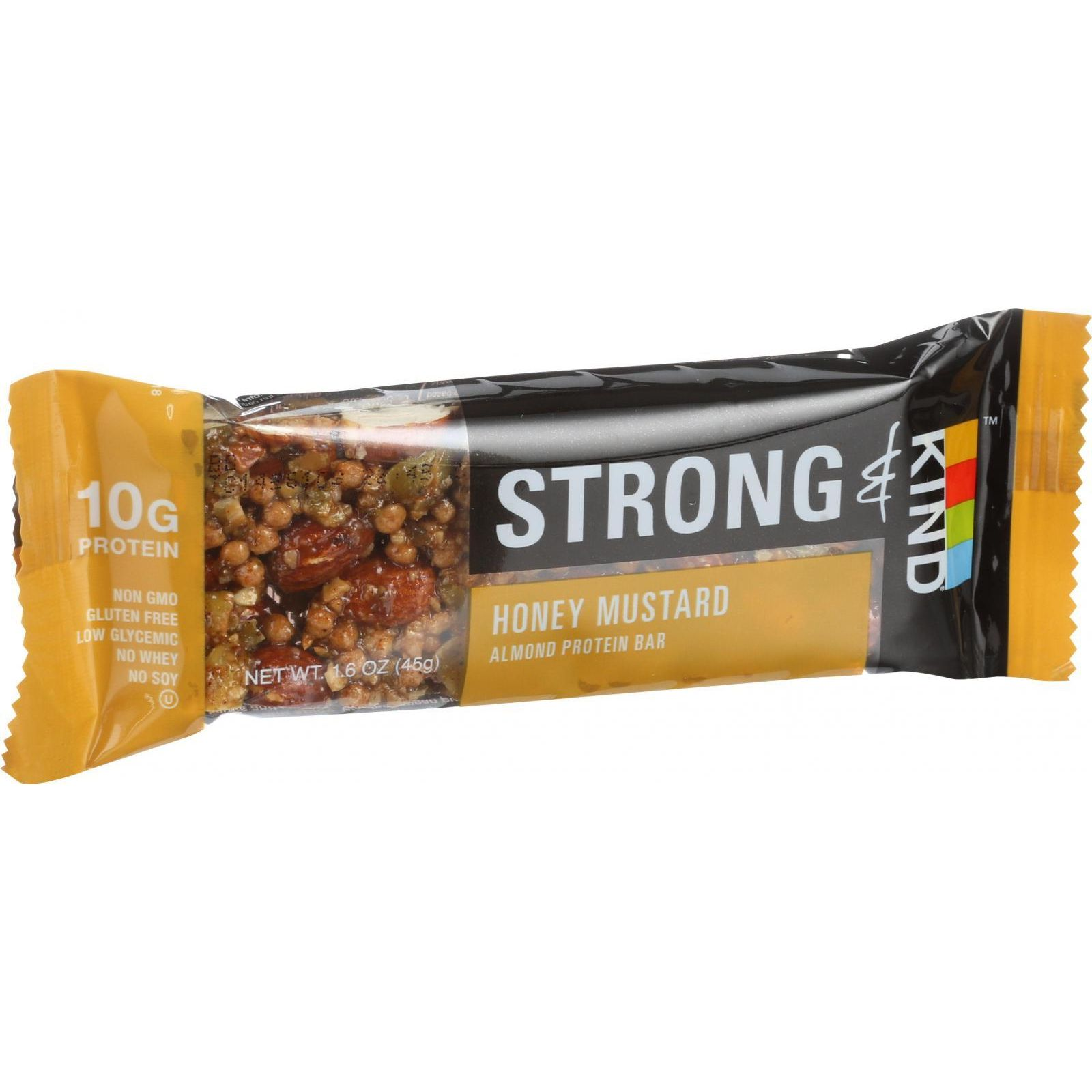Strong And Kind Bar - Honey Mustard - 1.6 Oz Bars - Case Of 12