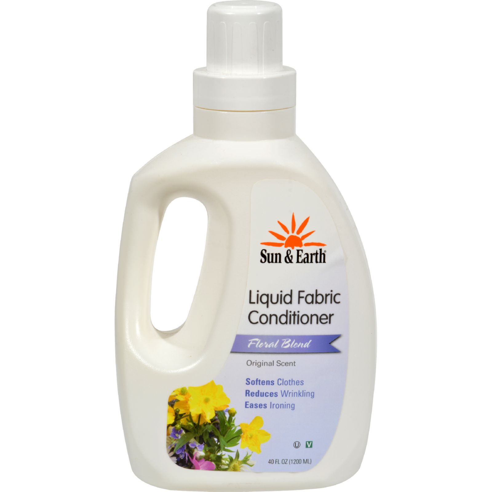 Sun And Earth Natural Liquid Fabric Softener - Floral Blend - 40 Oz