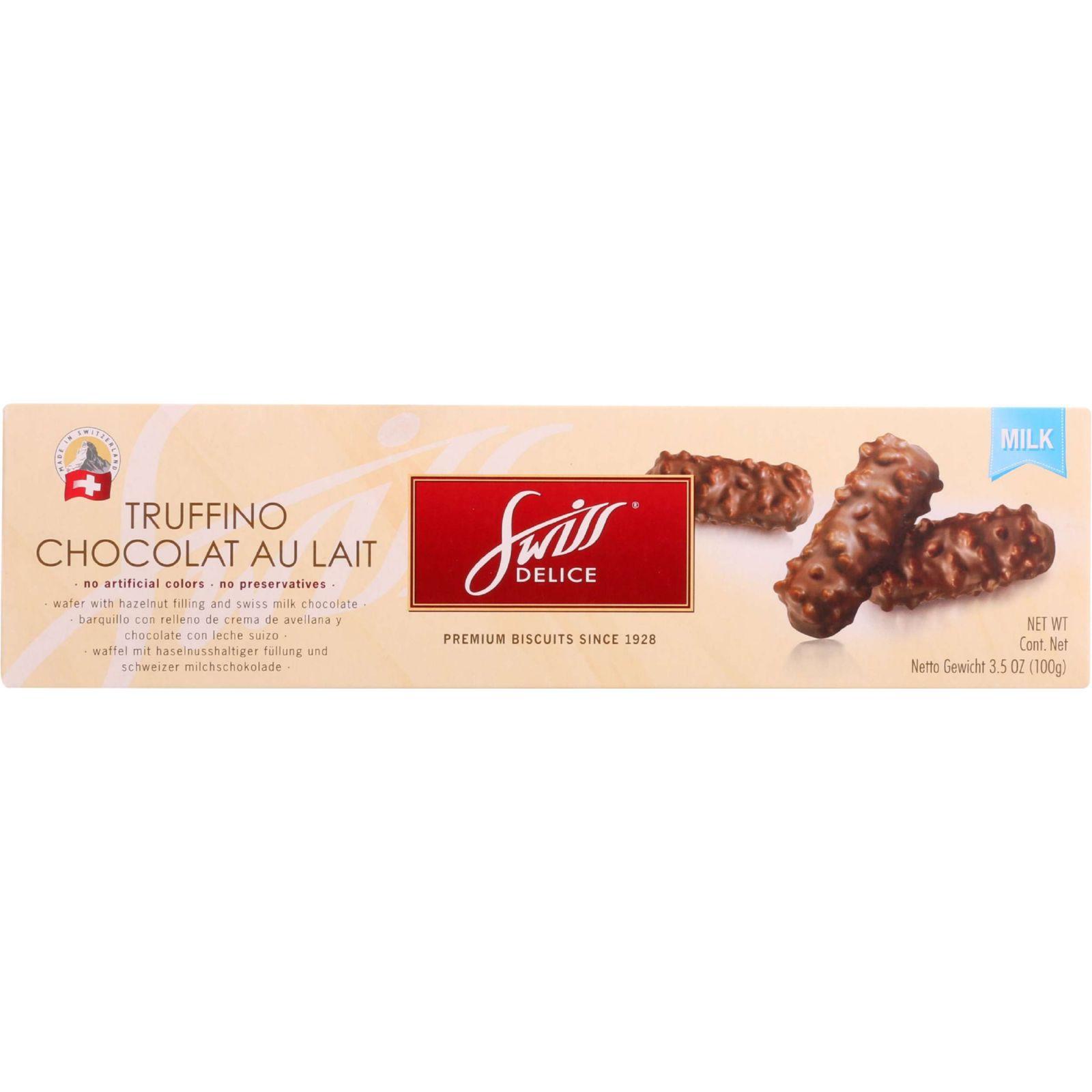 Swiss Delice Cookies - Truffino - Milk Chocolate - 3.5 oz - case of 10