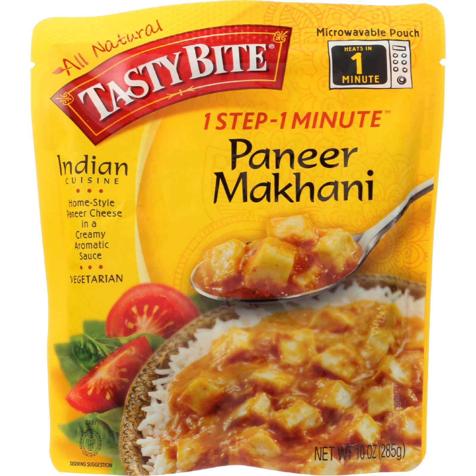 Tasty Bite Entree - Indian Cuisine - Ready To Eat - Paneer Makhani - 10 Oz - Case Of 6