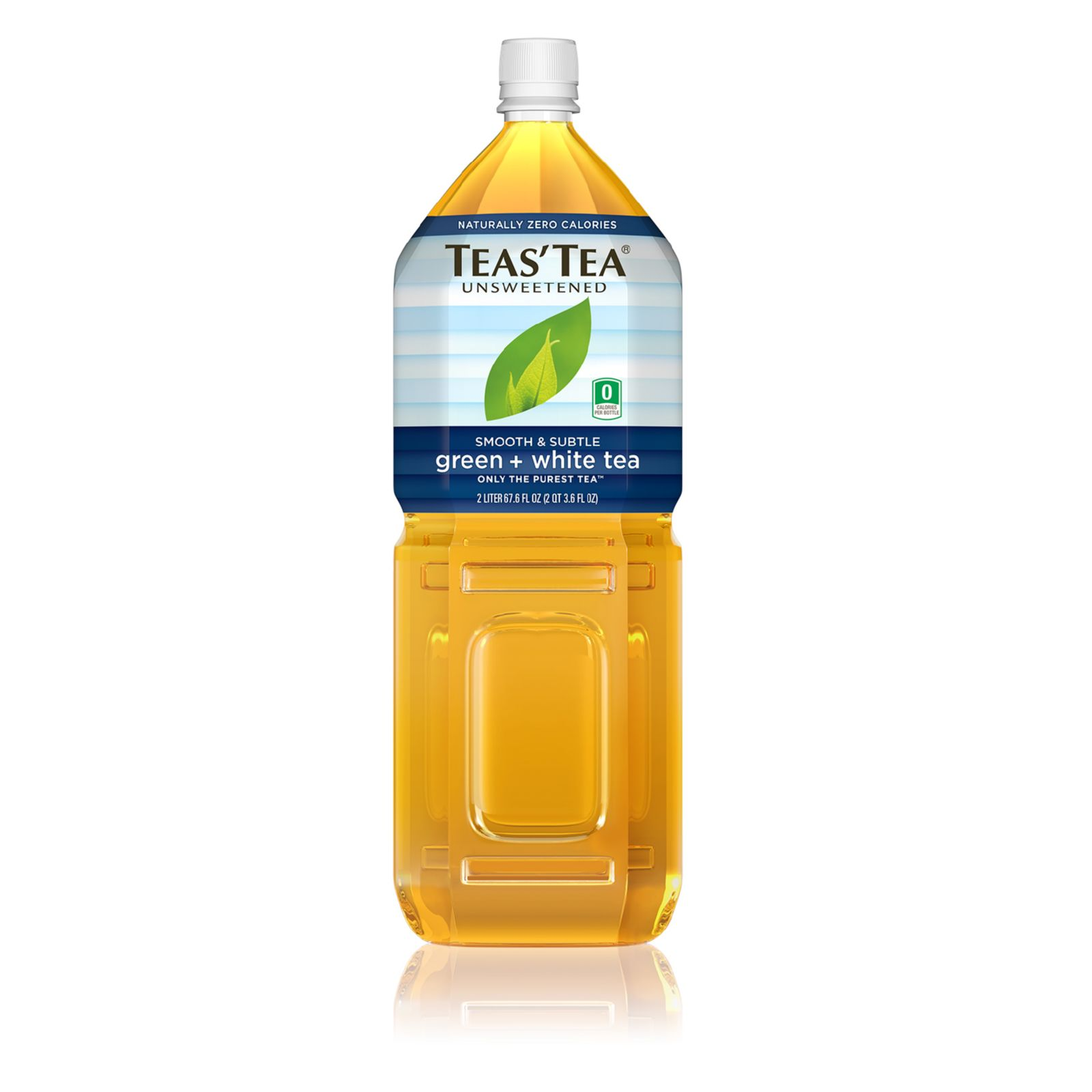 Teas' Tea Unsweetened Green White Tea - Case Of 6 -  2 Liter