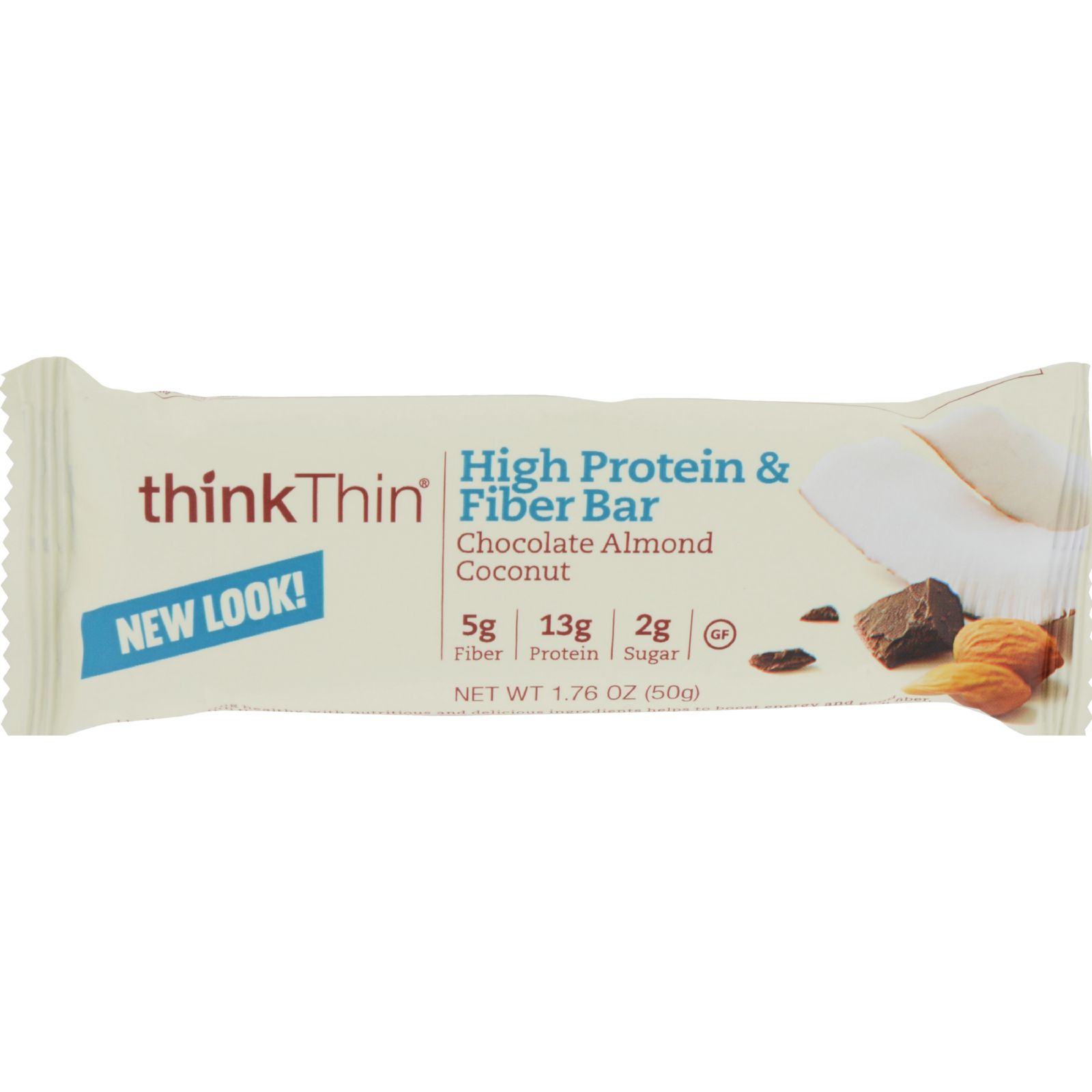 Think Products Bars - Thinkthin Chocolate Almond Coconut Protein Plus Fiber - 1.76 Oz - Case Of 10