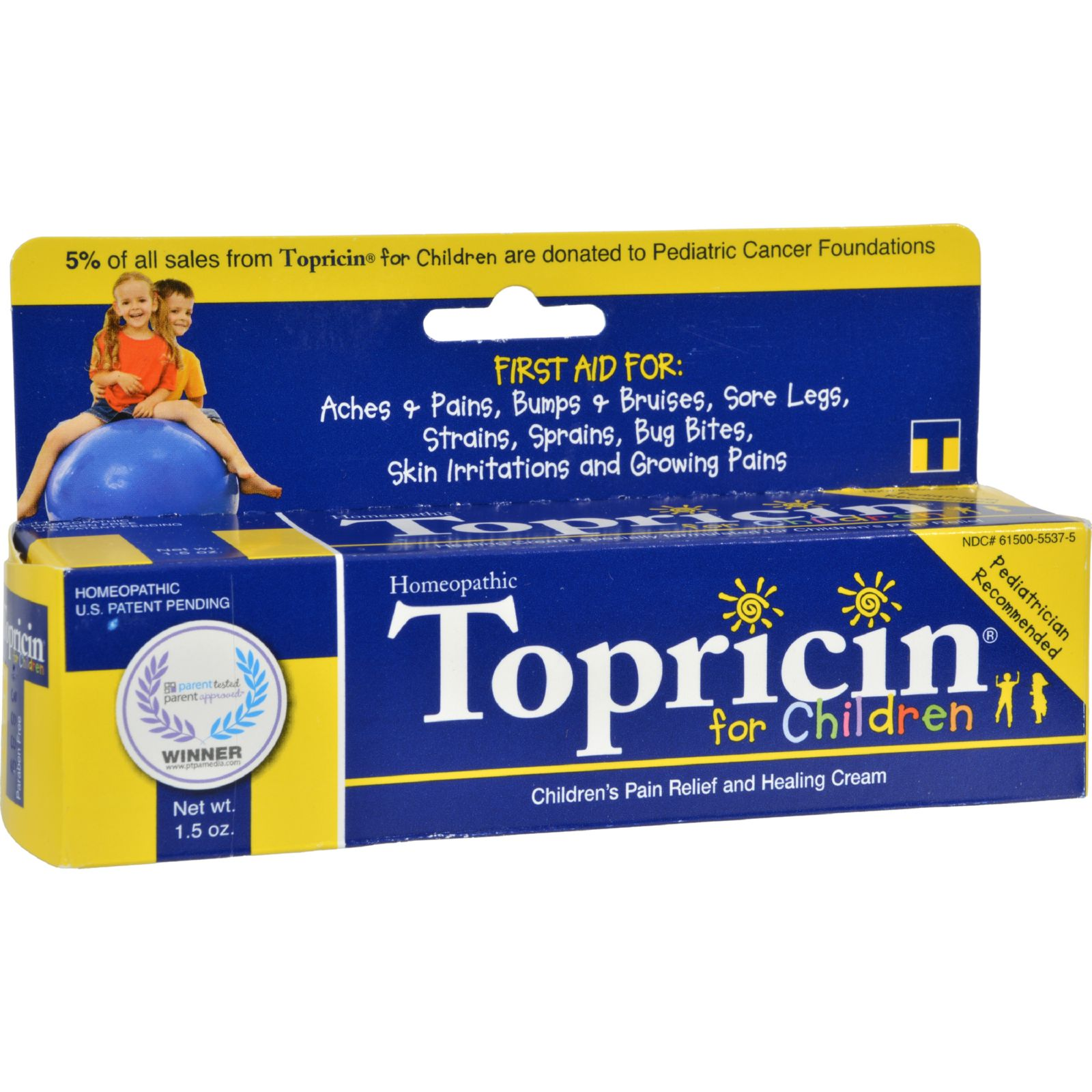 Topricin Junior Pain Relief Cream - 1.5 Oz