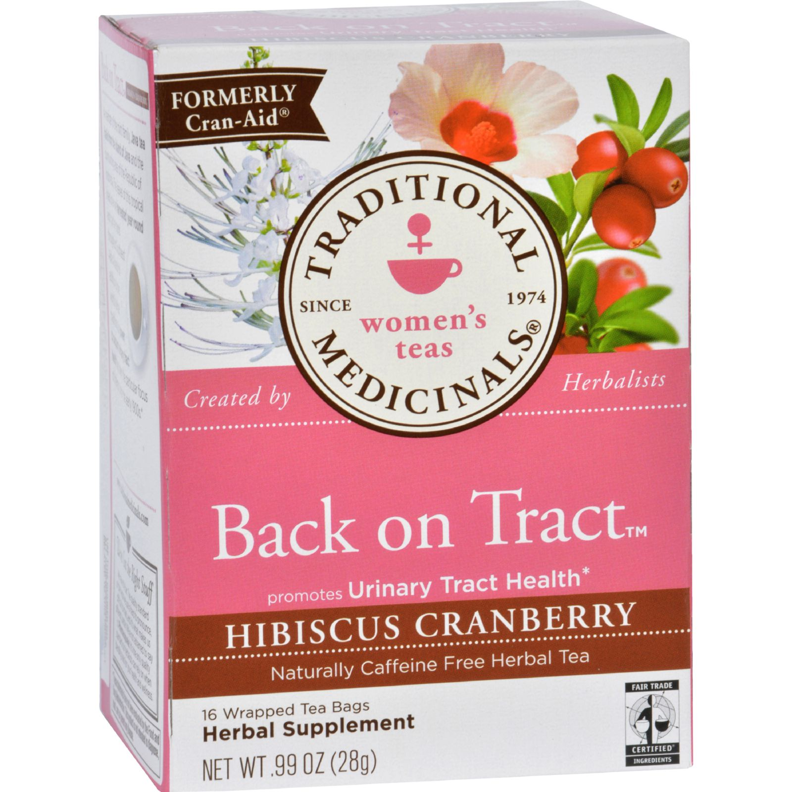 Traditional Medicinals Tea - Back On Tract - Hbscs Crnbrry - 16 Ct - 1 Case