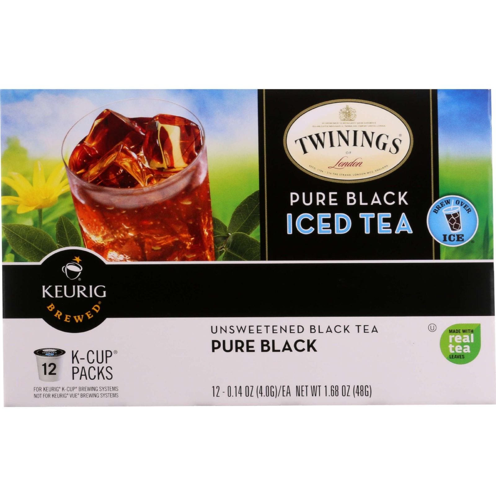 Twinings Tea Tea - K-cup Pods - Iced - Pure Black - 12 Count - Case Of 6