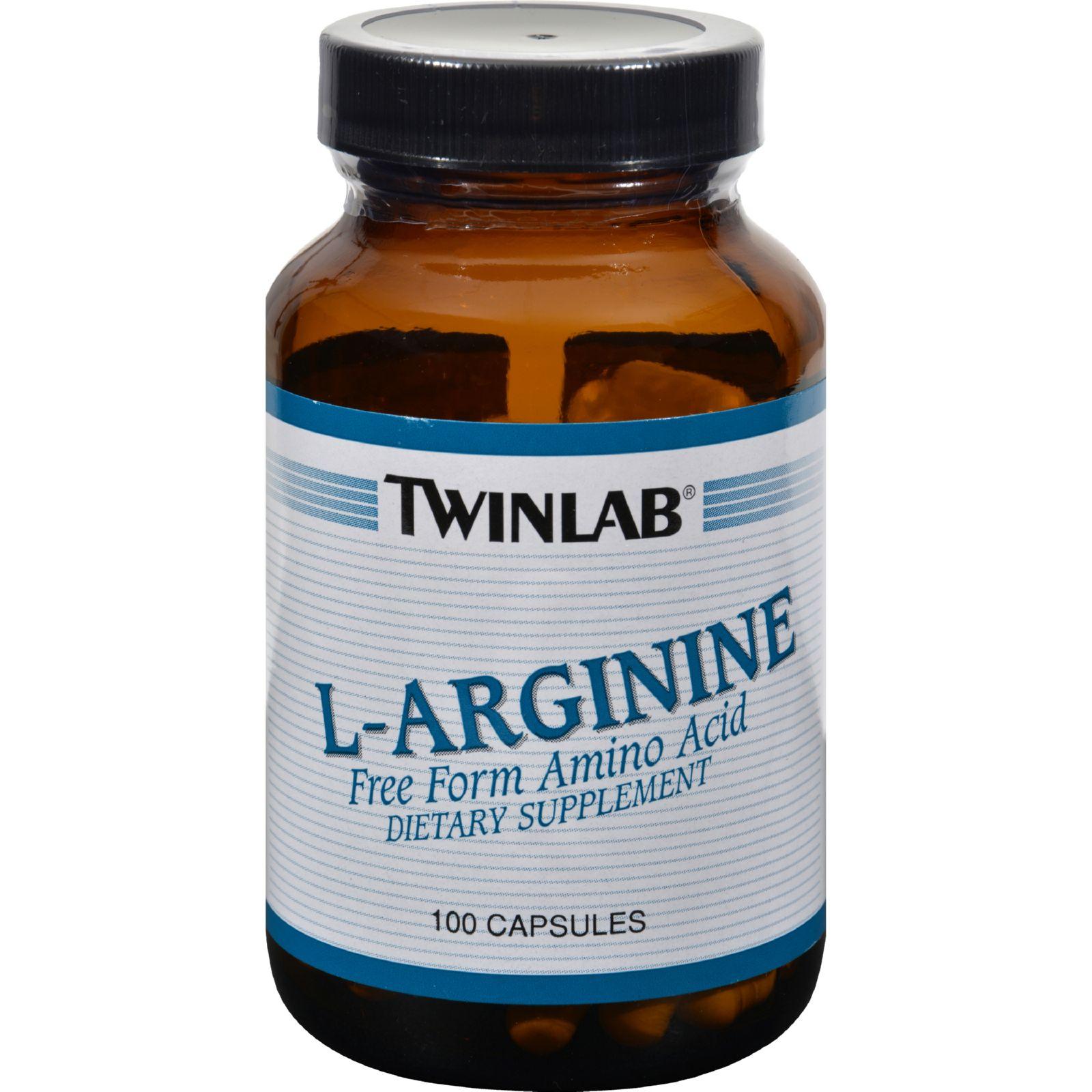 Twinlab L-arginine - 500 Mg - 100 Capsules