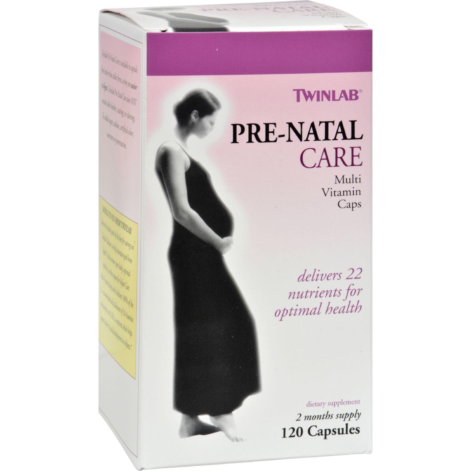 Twinlab Pre-natal Care Multi-vitamin - 120 Capsules