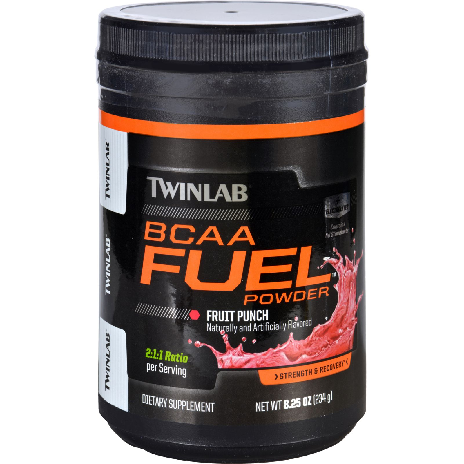 Twinlab Bcaa Fuel - Fruit Punch - Powder - 8.25 Oz