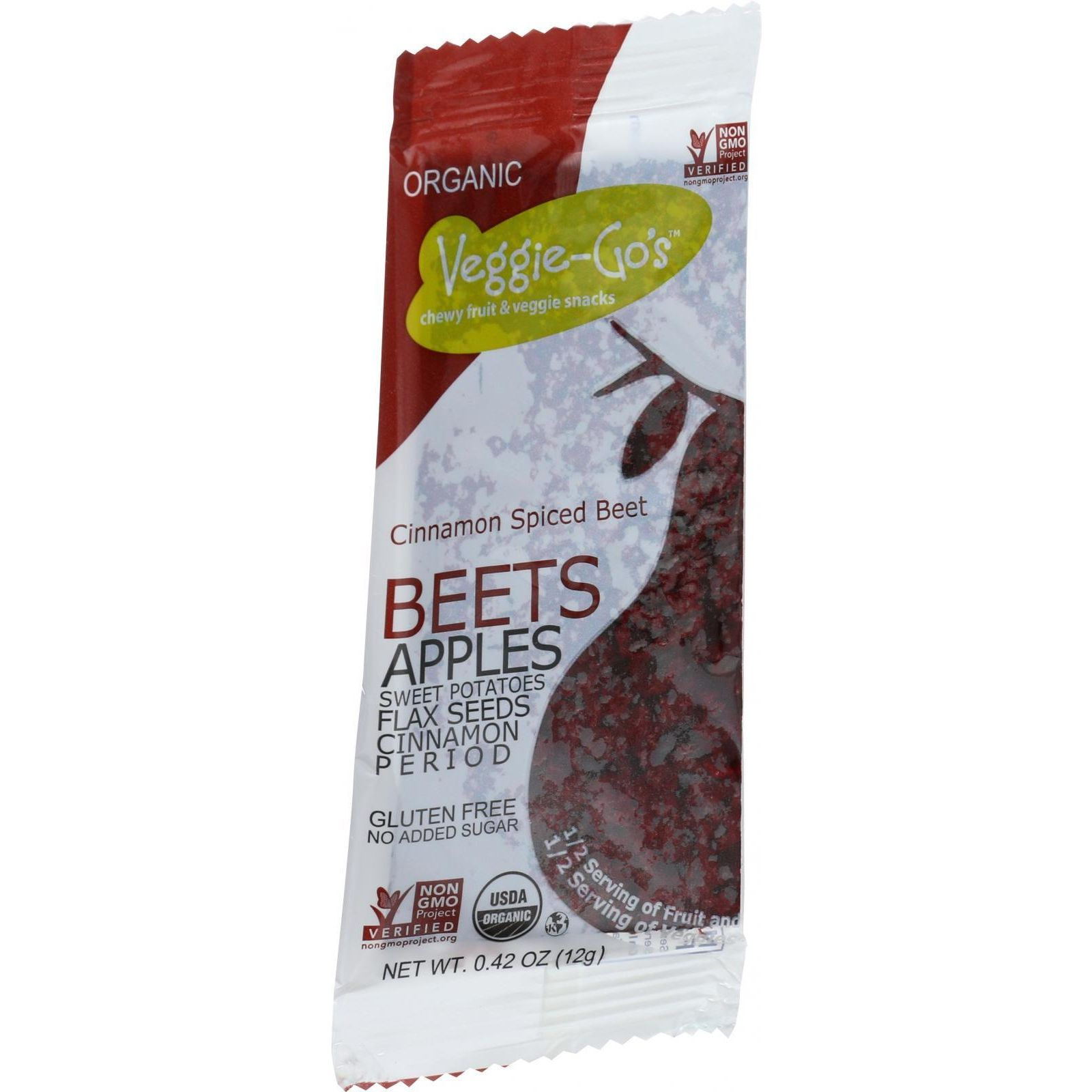 Veggie Gos Organic Snack - Cinnamon Spiced Beet - .42 Oz Bars - Case Of 20
