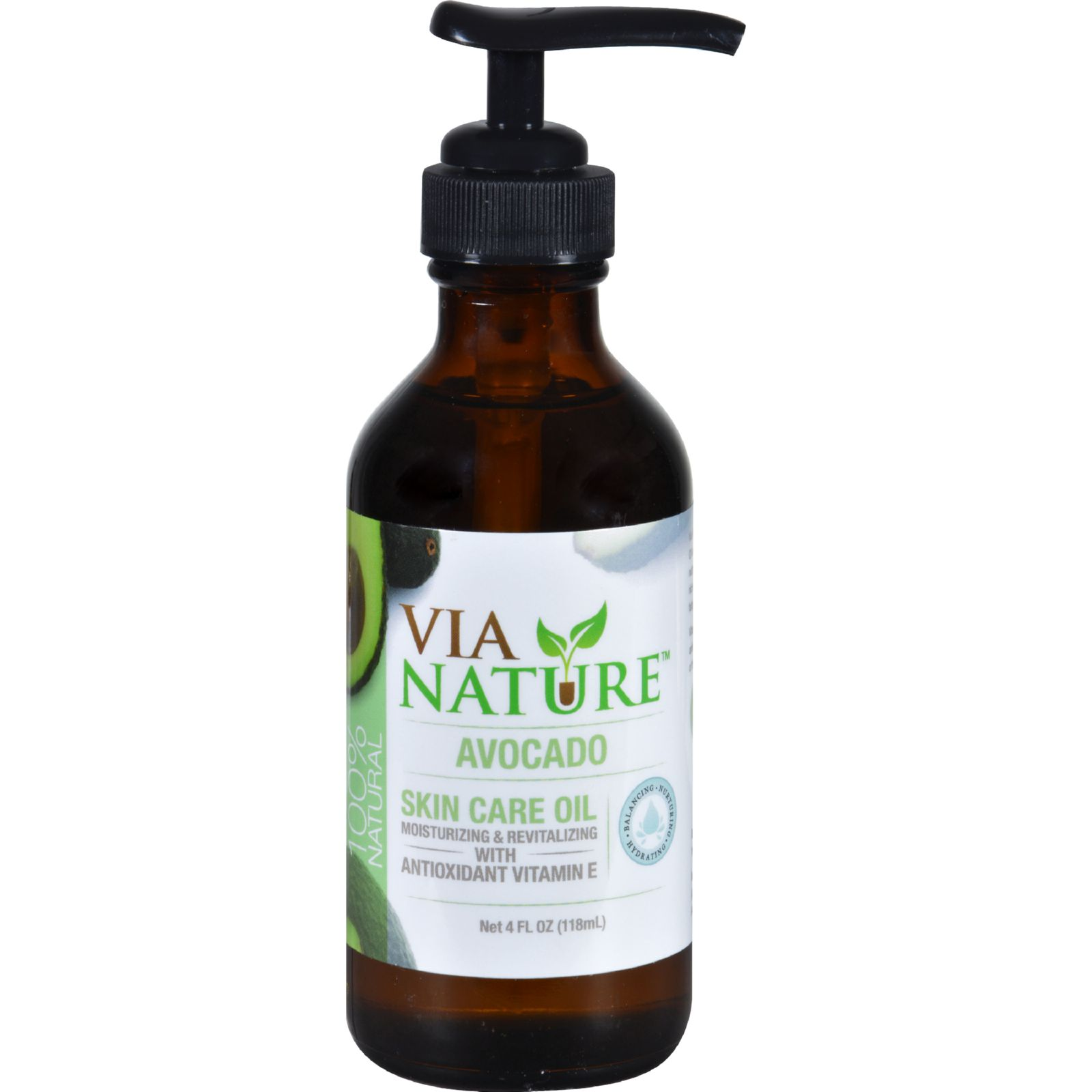 Via Nature Carrier Skin Care Oil - Avocado - 4 Fl Oz