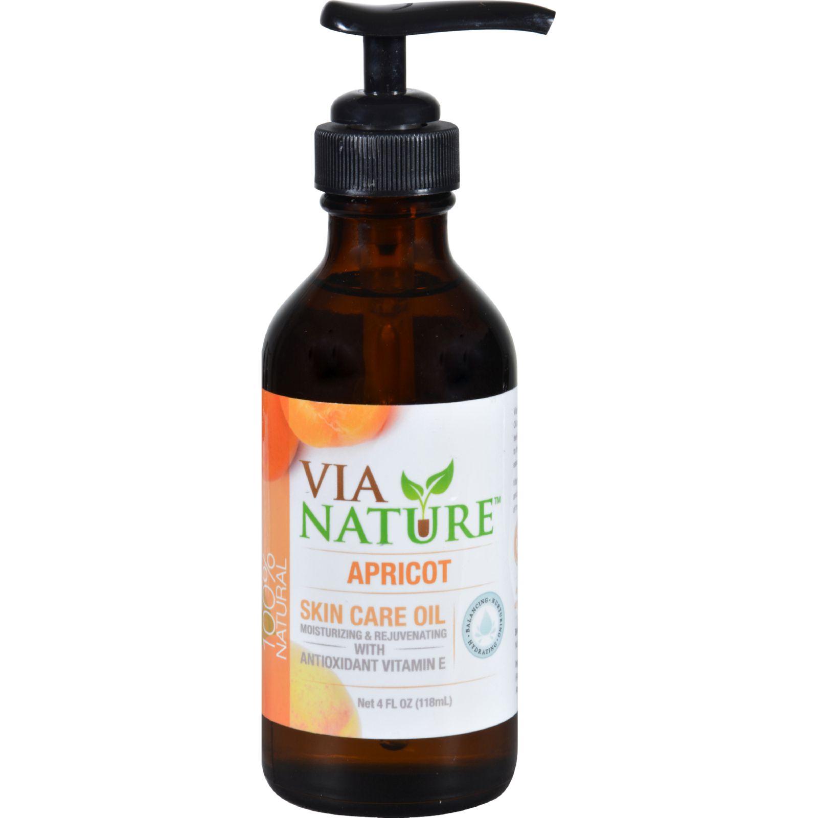 Via Nature Carrier Skin Care Oil - Apricot - Moisturizing - 4 Fl Oz