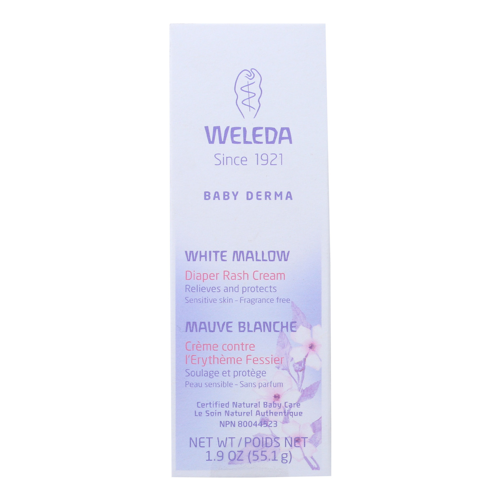 Weleda Diaper Rash Cream - Baby Derma - White Mallow - 1.9 Oz