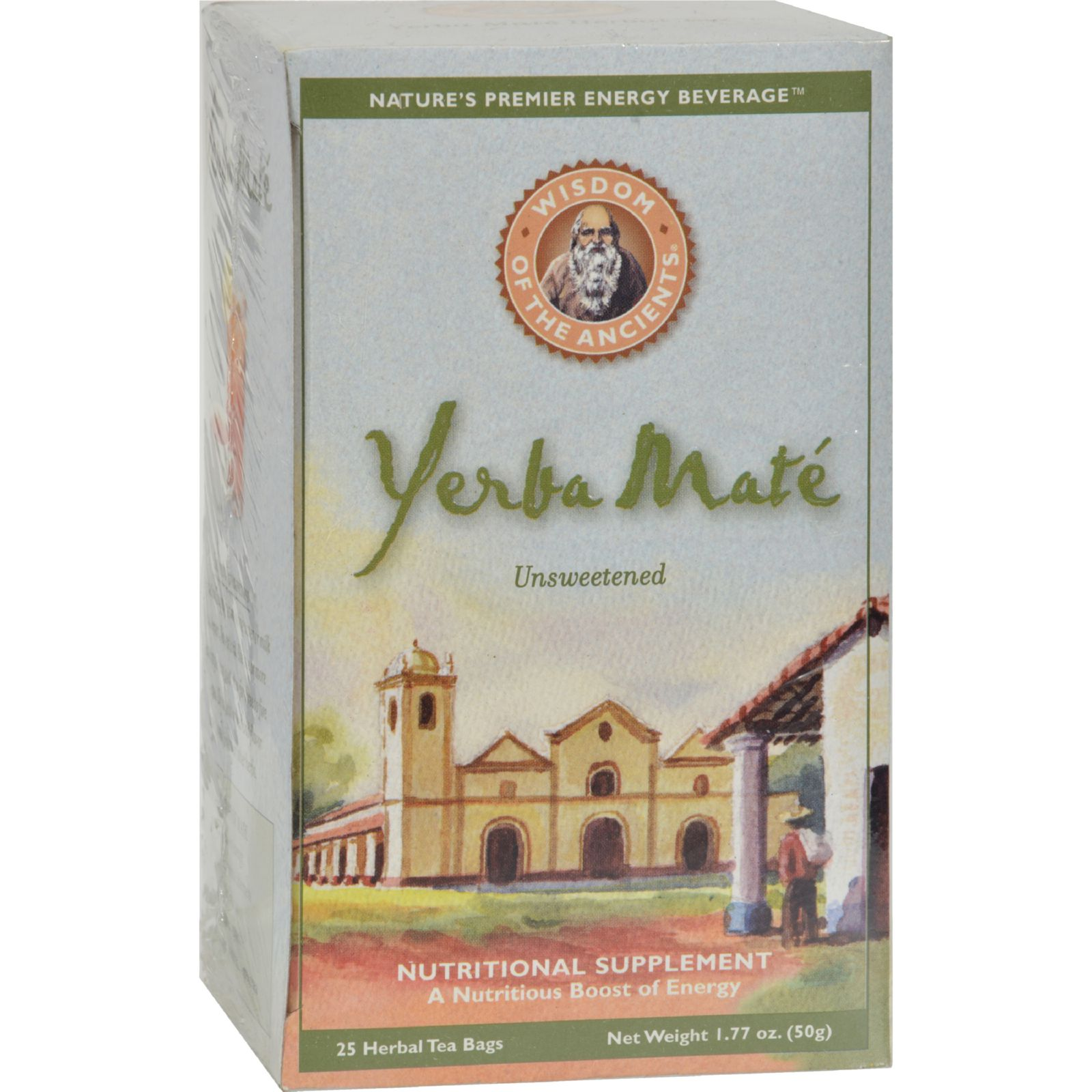 Wisdom Natural Yerba Mate Herbal Tea Unsweetened - 25 Tea Bags