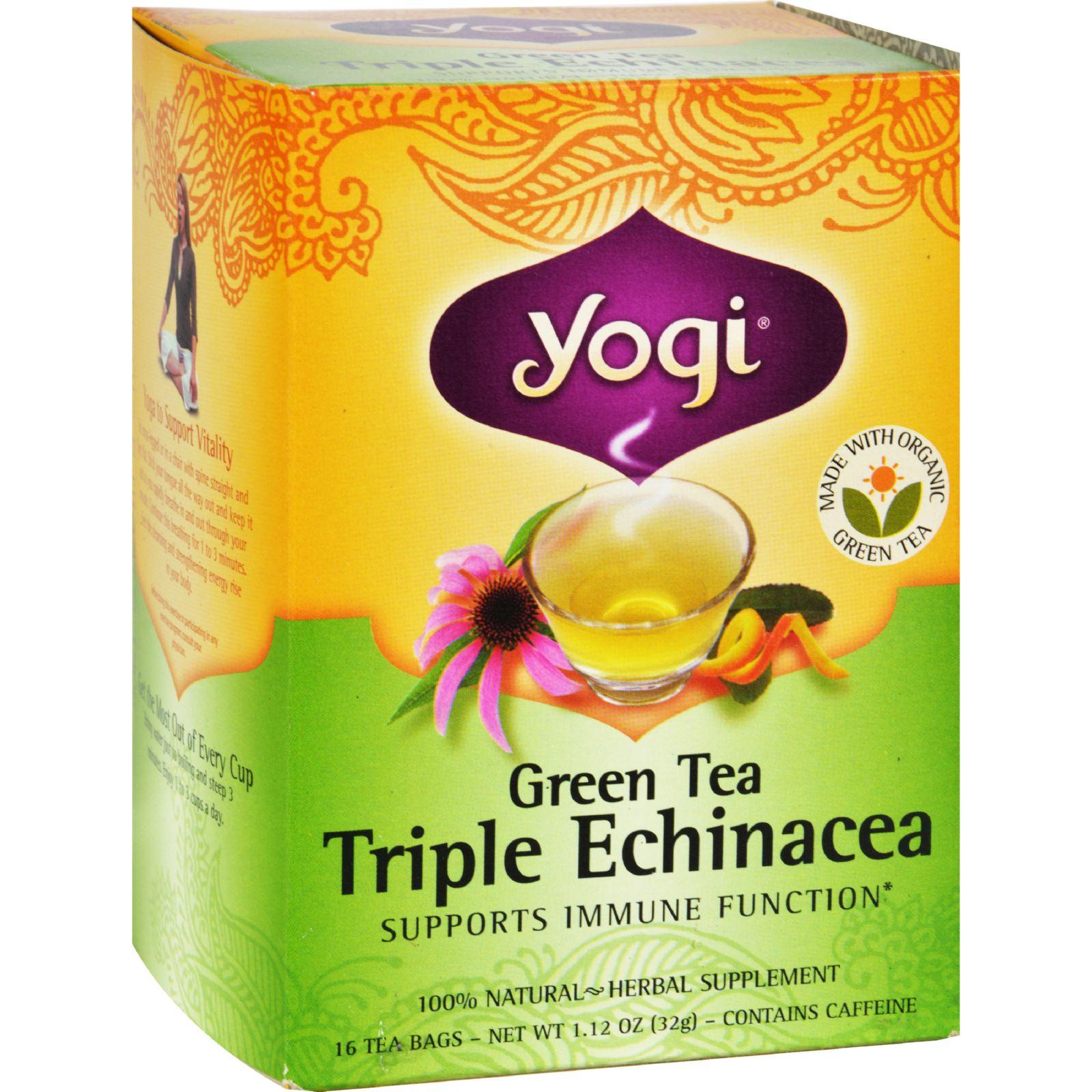 Yogi Tea Green Tea Triple Echinacea - 16 Tea Bags