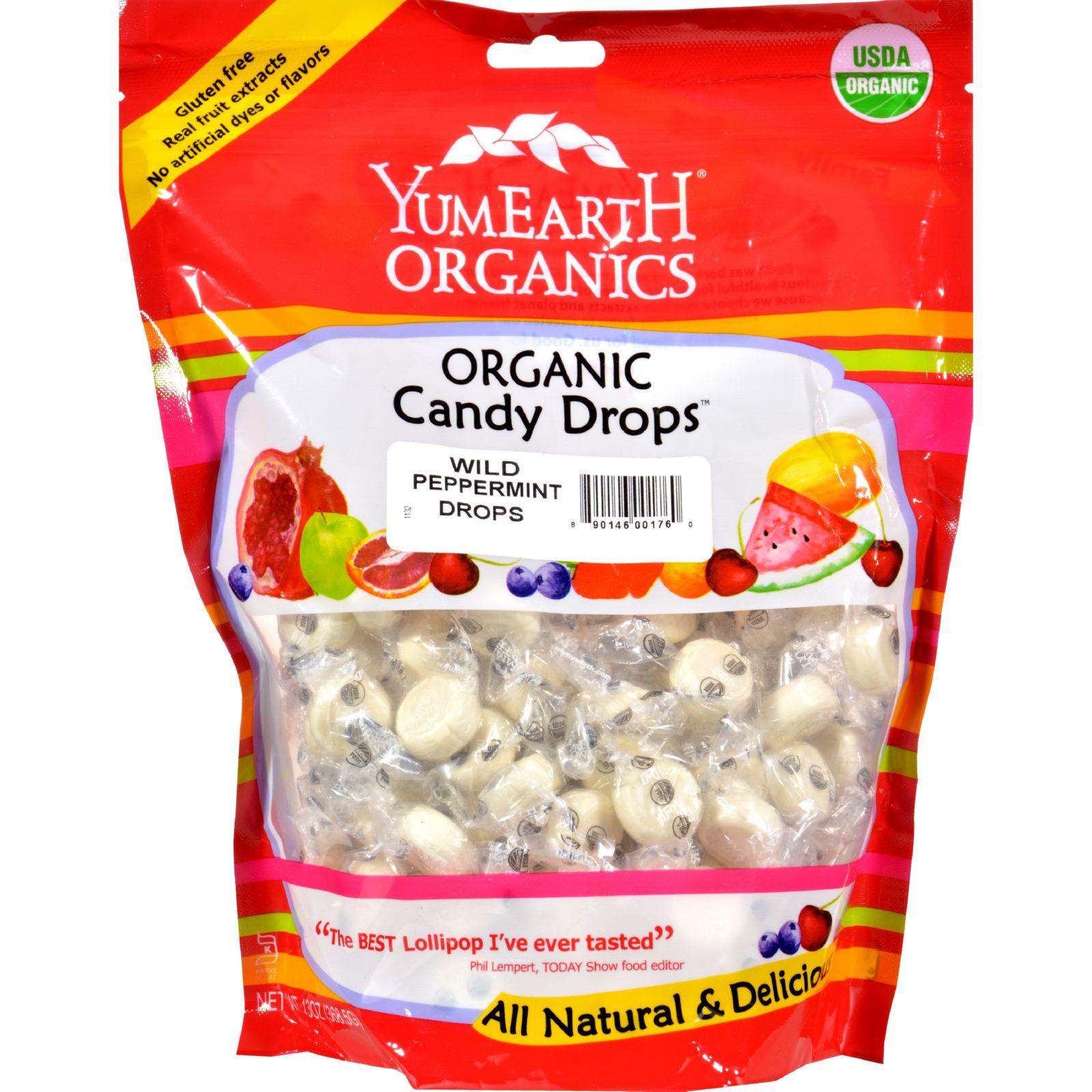 Yummy Earth Organic Wild Peppermint Drops - 13 oz