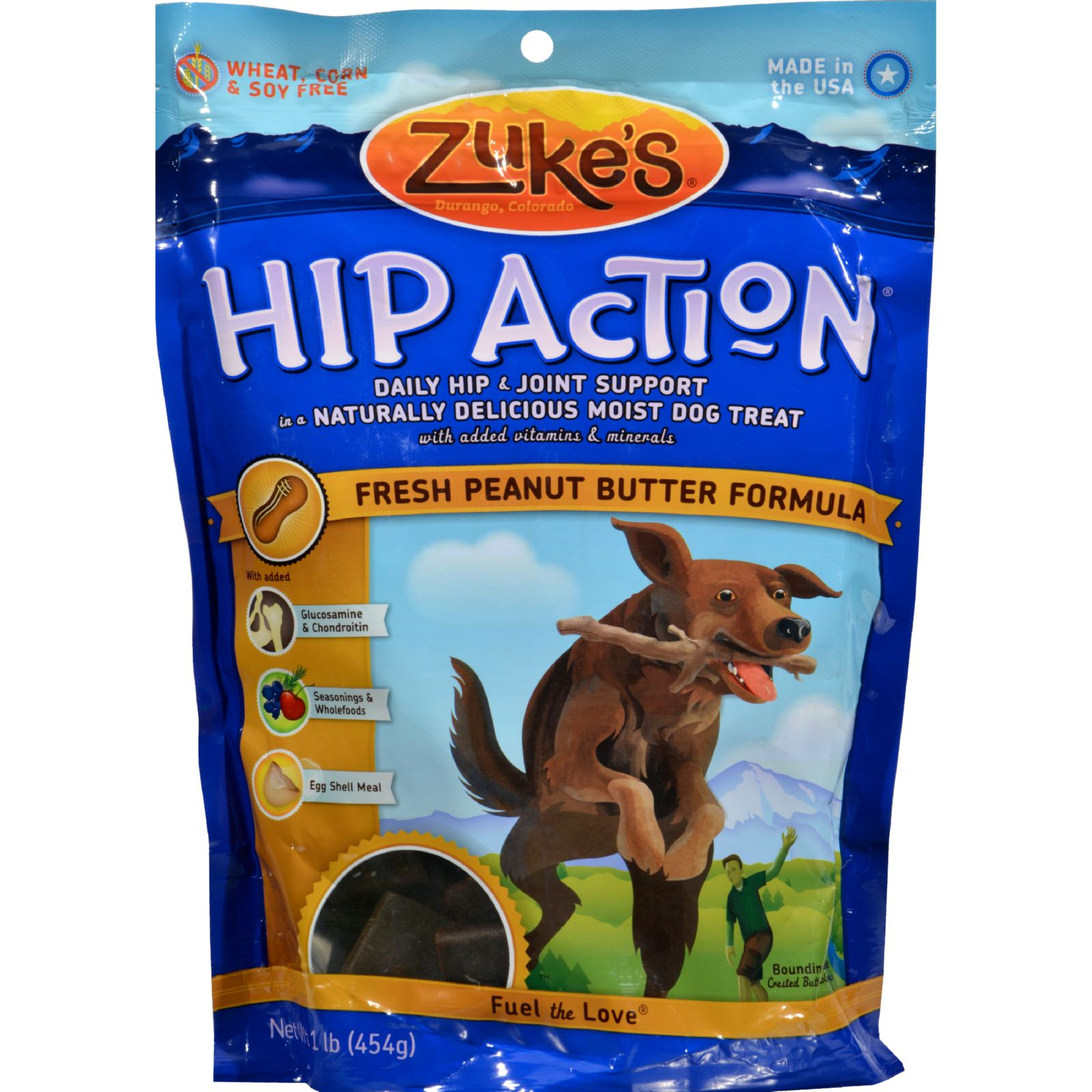 Zuke's - Hip Action - Peanut Butter And Oats Recipe - 1 Lb.