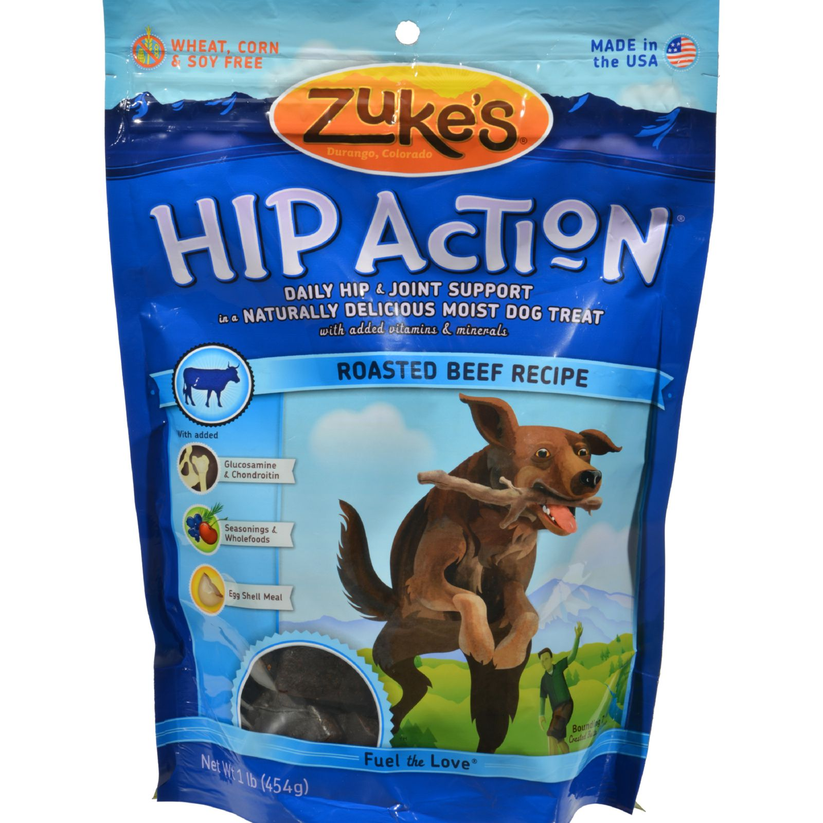 Zuke's - Hip Action - Beef Recipe - 1 Lb.