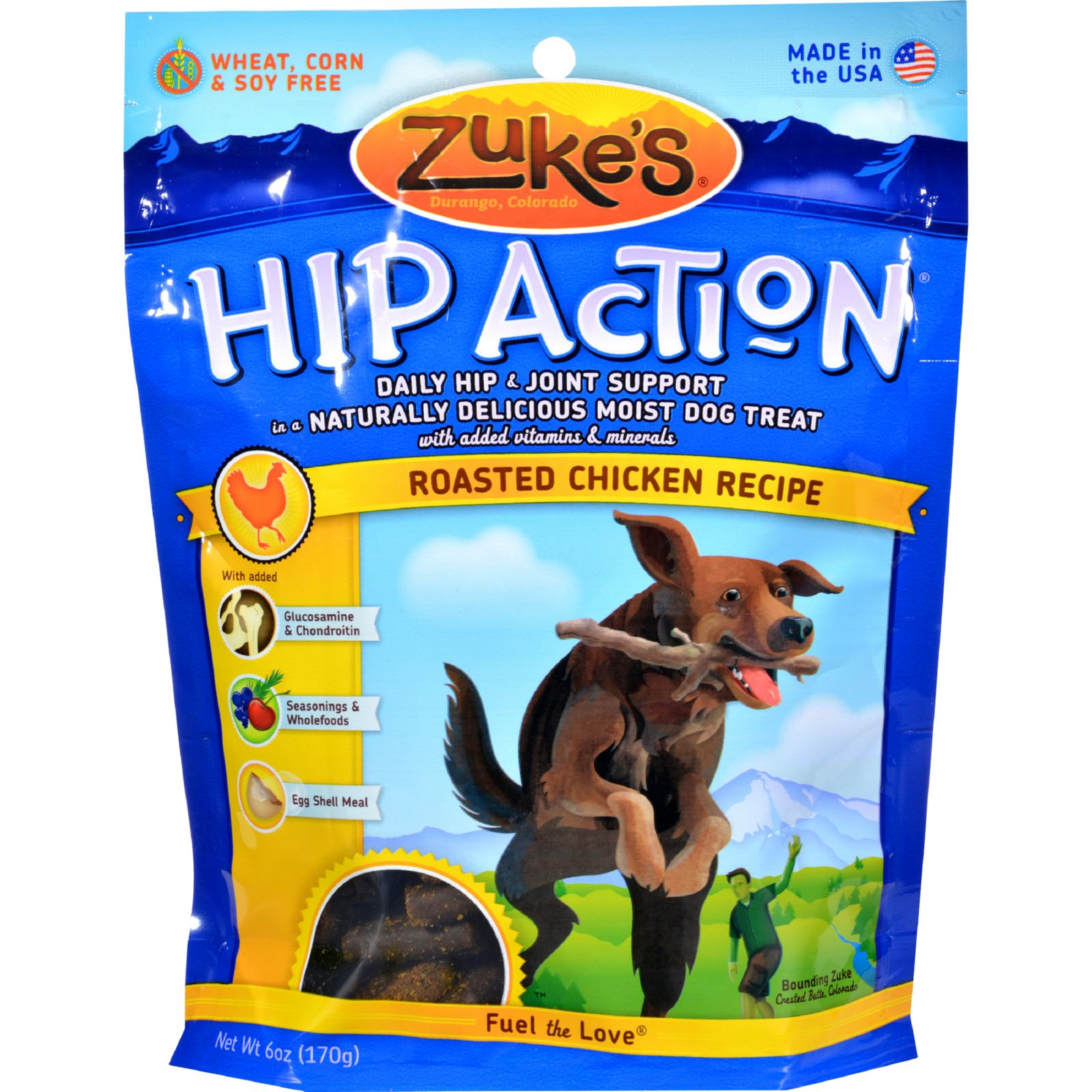 Zuke's Hip Action Dog Treats - Chicken Formula - Case of 12 - 6 oz