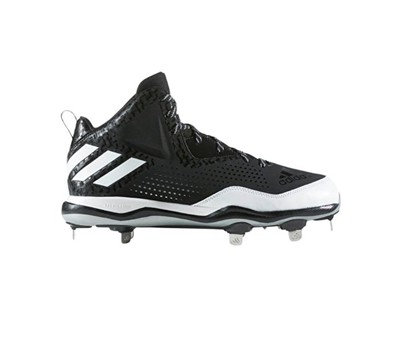 promo code 5fd62 b4a48 adidas Poweralley 4 Mid Mens Baseball Cleats Picture 2 of 2