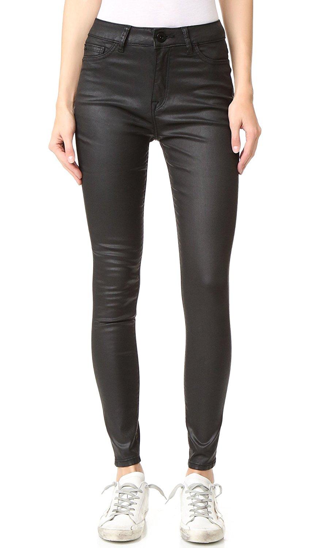 df61109ed2694 Details about DL1961 Jessica Alba No. 1 Chasm Wash Trimtone High Waist  Skinny Jeans Pants 30