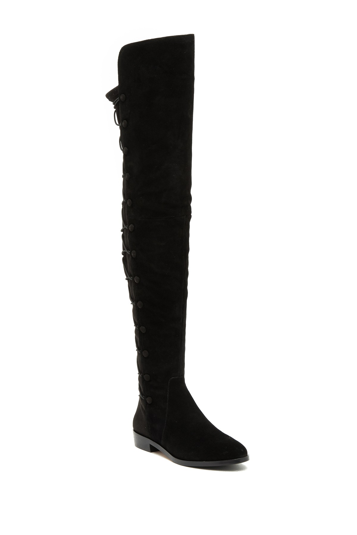 f0d38e871ca Vince Camuto Coatia Over The Knee Suede Boots Black 6.5 M ...