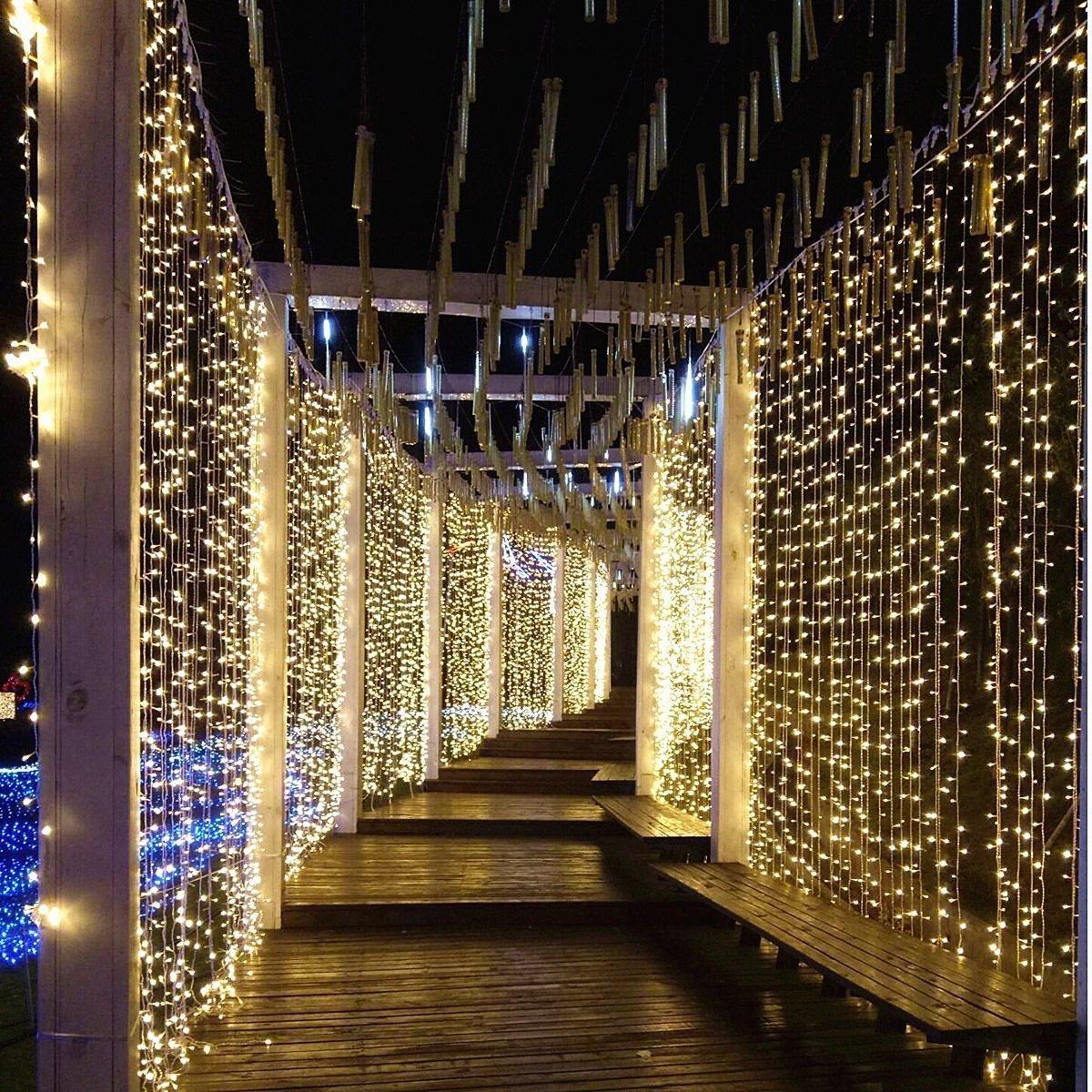 100 LED 10M Innen Außen Party Lichterkette Weihnachtsbeleuchtung ...