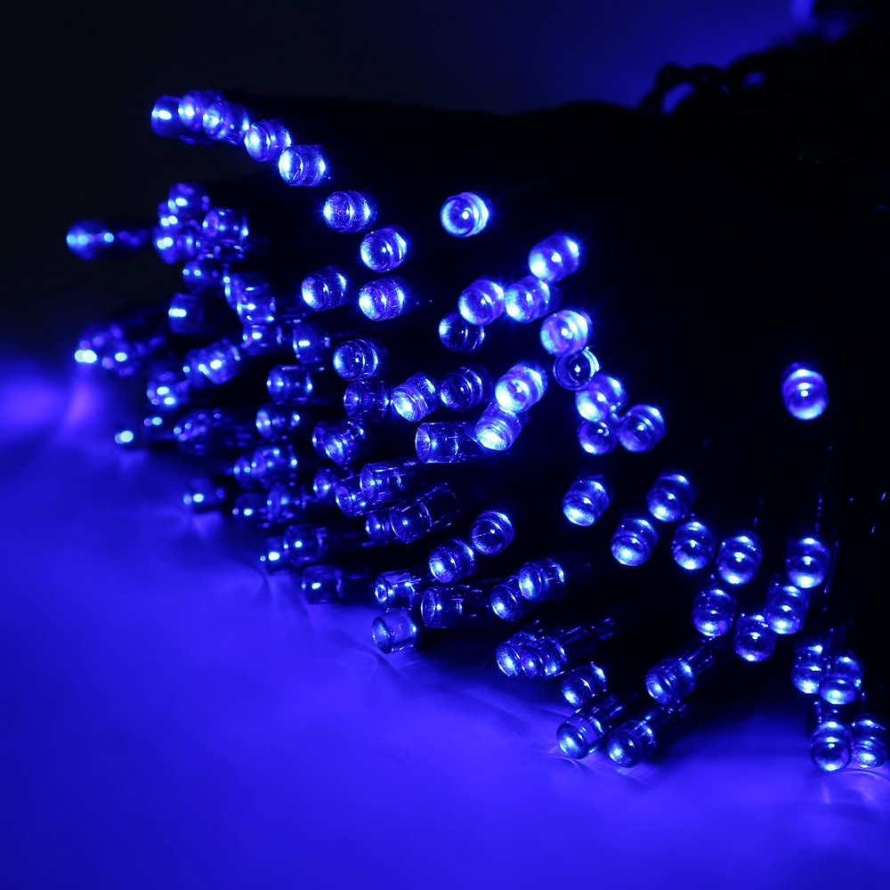solar lichterkette 100 500 led dekodraht au en innen kette party beleuchtung ebay. Black Bedroom Furniture Sets. Home Design Ideas